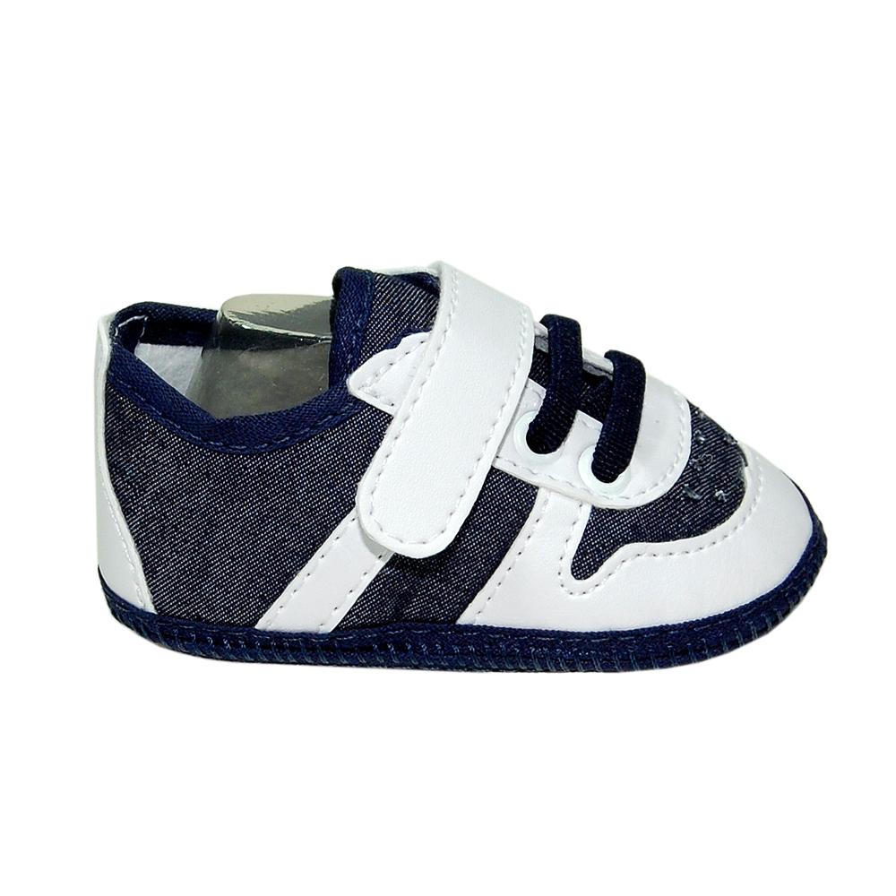 cac0146d0 Tênis Confort Jeans e Branco - Ref.MSP0041 no Elo7 | Sapatinhos Baby  (B61838)