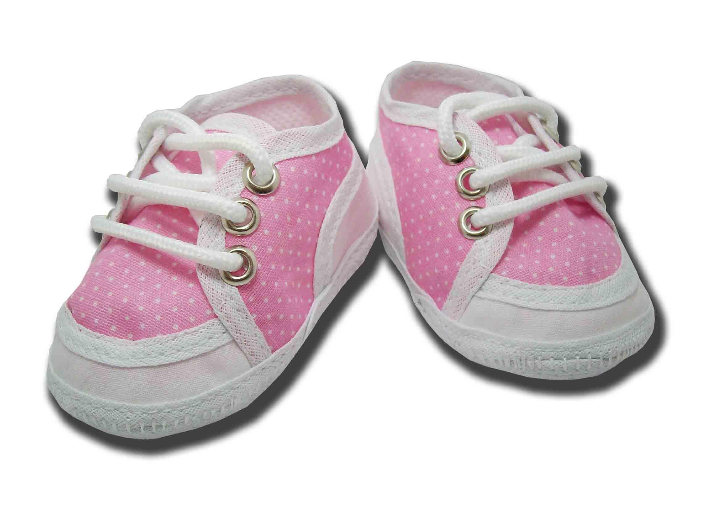 Tenis Feminino Bebe Branco e Rosa  d6a19d354d6b3