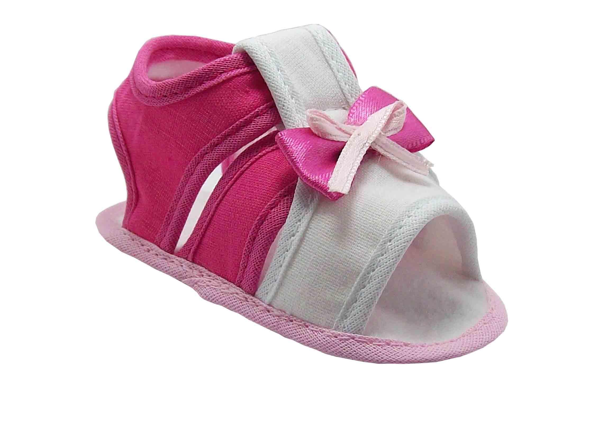 482cef5fa Sapatinho de Bebê Sandália Bebê Branca e Pink Linda no Elo7 ...