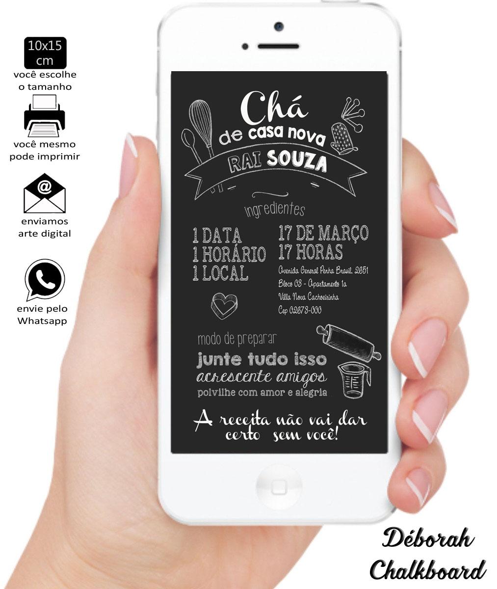 Convite Digital Chá De Casa Nova Elo7