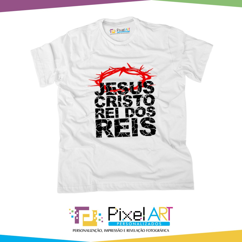 66916de8e Camiseta Gospel Jesus cristo rei dos reis no Elo7