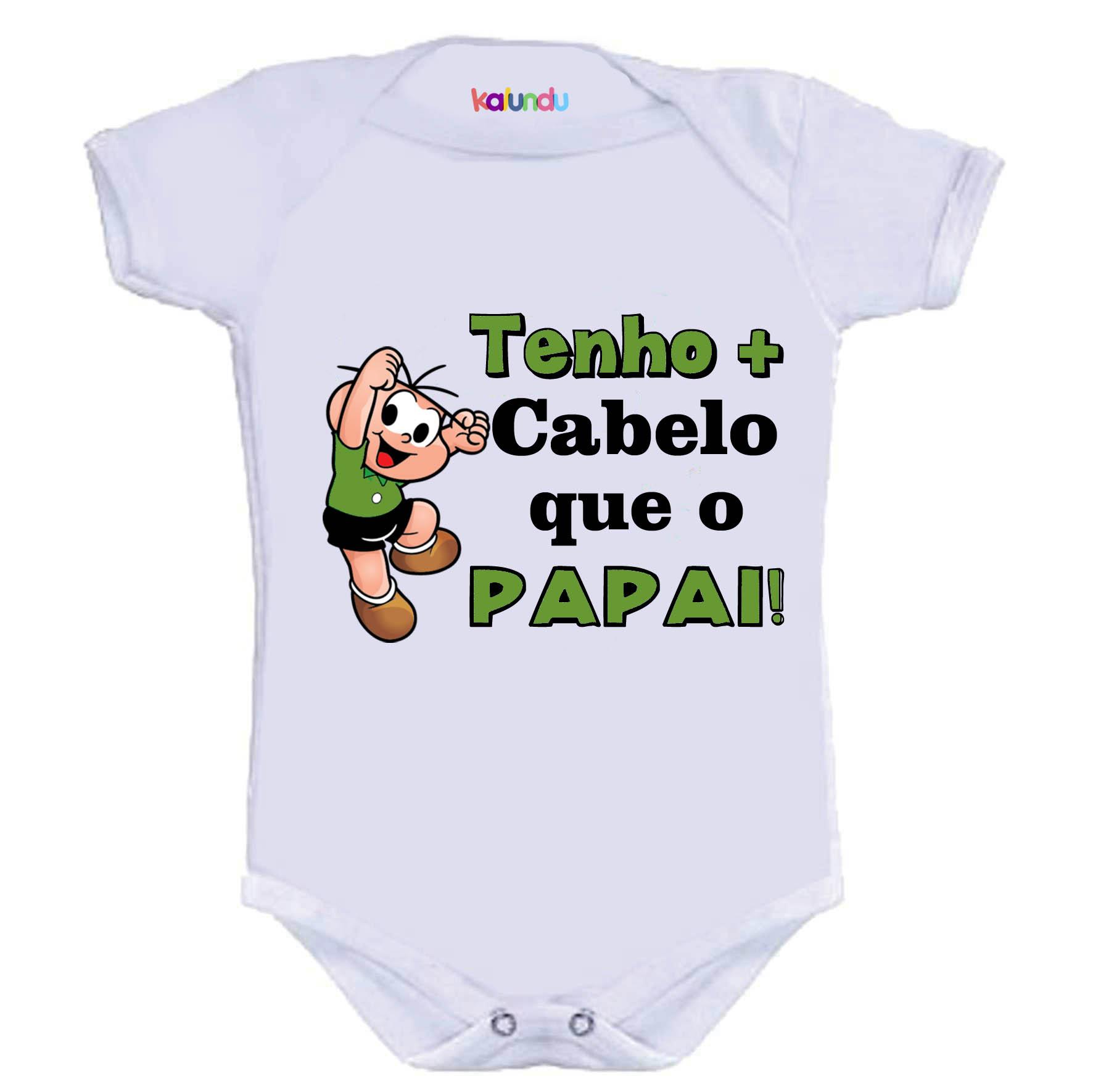 Body Bori Bebe Personalizado Divertido Tenho Cabelo Papai  55706af1bb8c3