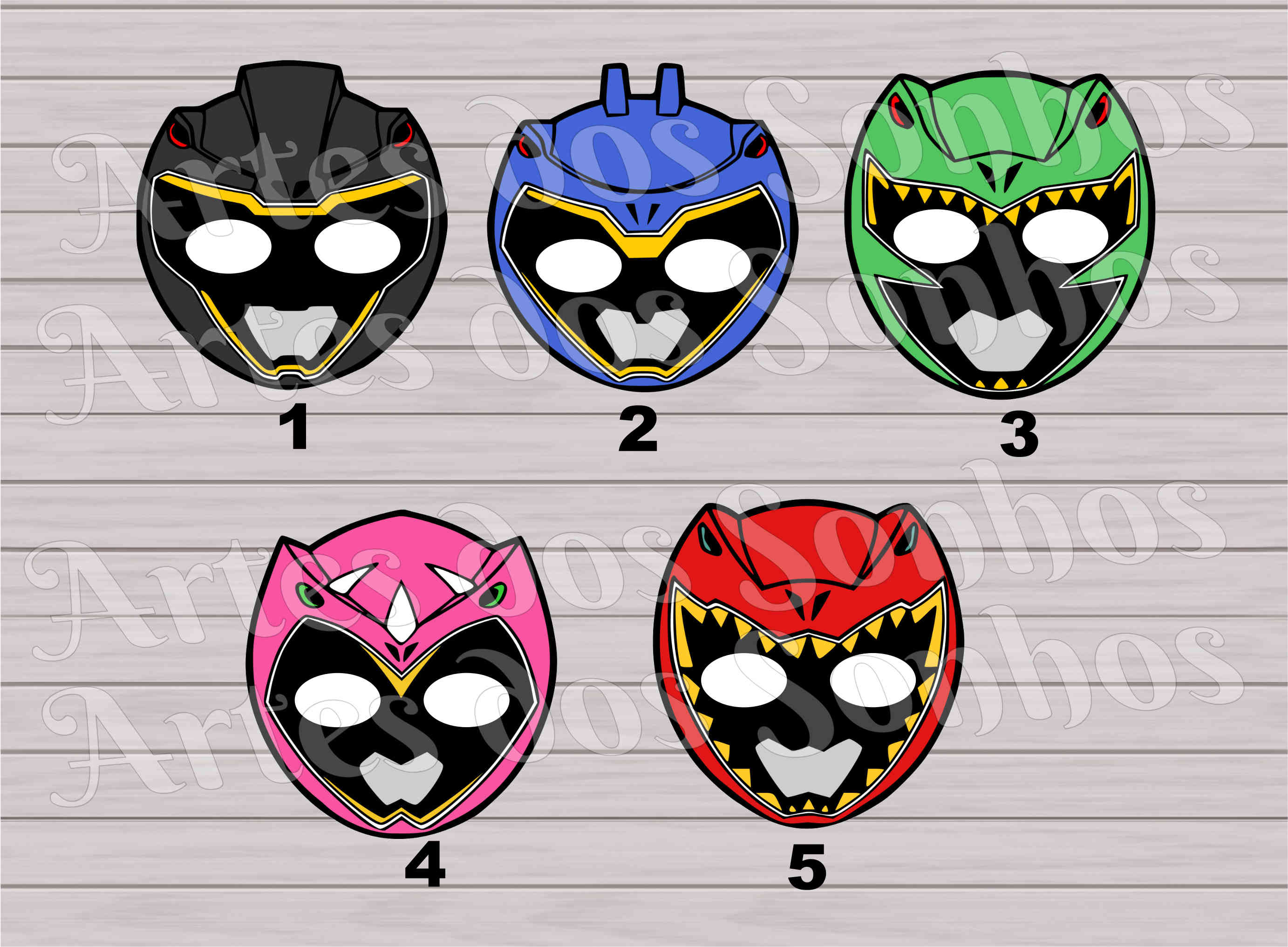 Power Rangers Para Imprimir. Masks Clipart Power Ranger. Colorear ...