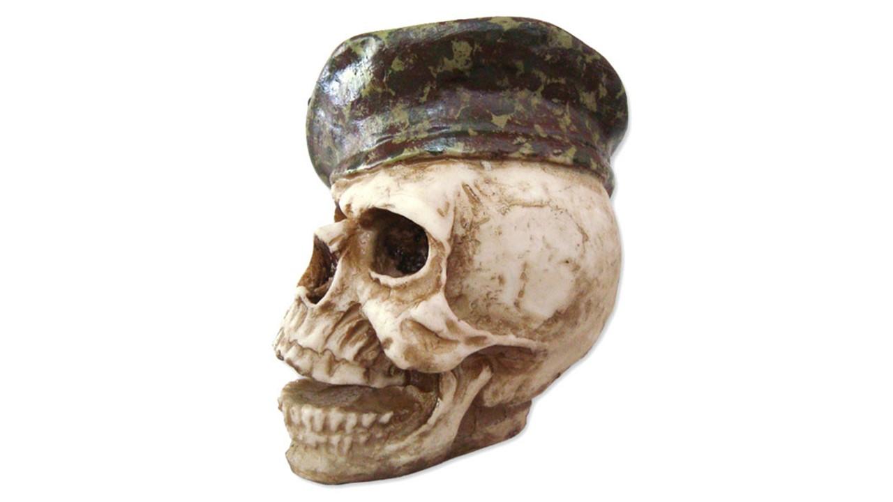 Cranio com boina pede pra sair Resina no Elo7  9a7a8b89987