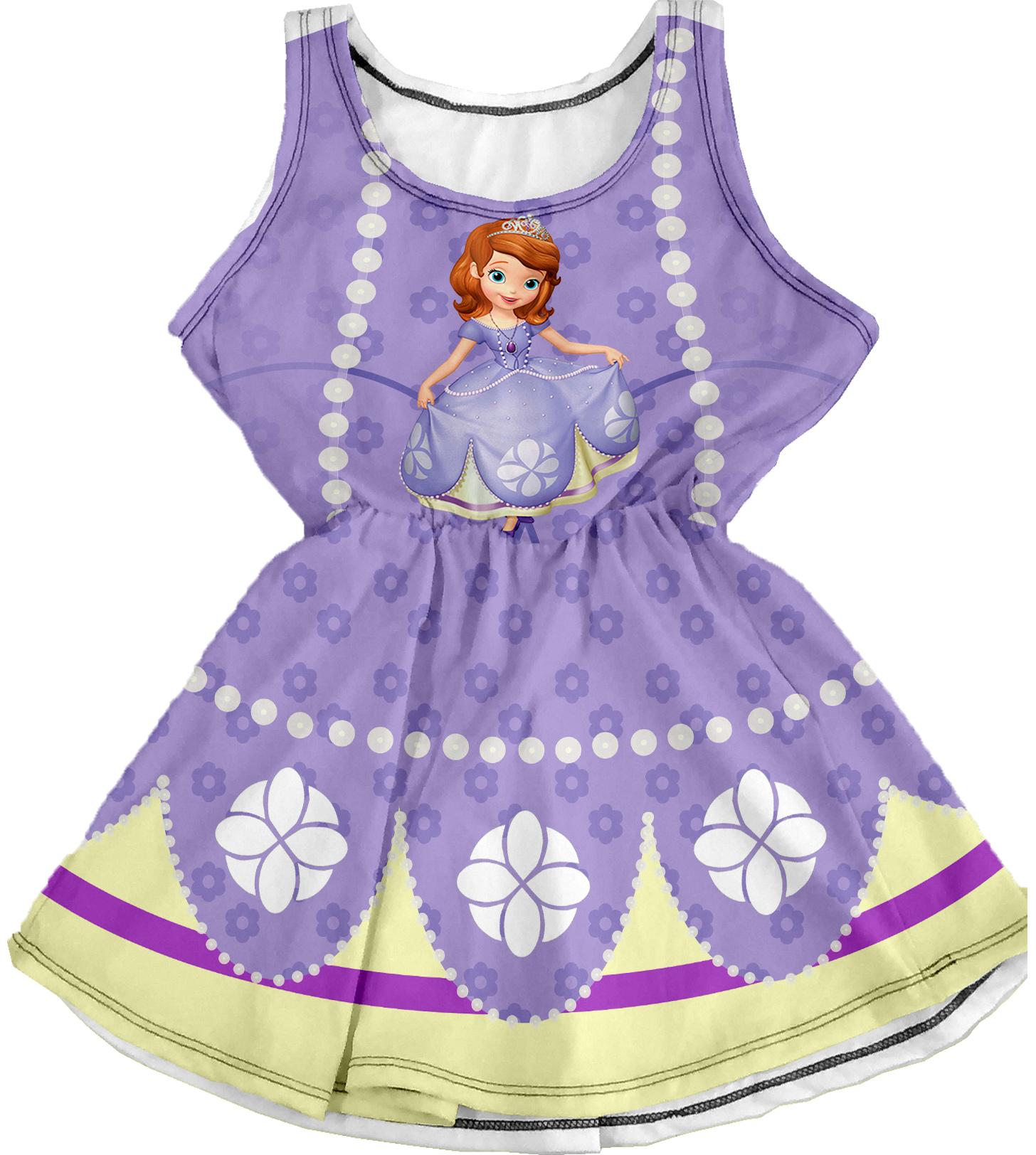 Vestido Infantil da Princesa Sofia | Elo7