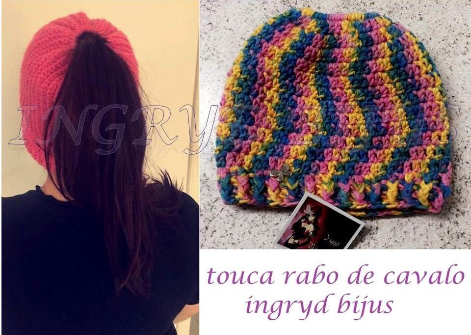 Gorro Touca Croche Estilo Caida Adulto Ou Infantil  b7baeb8cc2b
