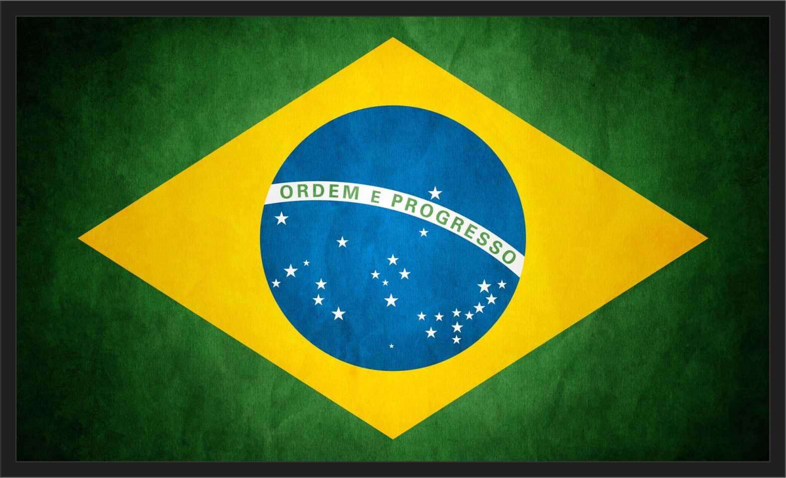 Quadro Decorativo Bandeira Do Brasil Países Com Moldura 001 no ...