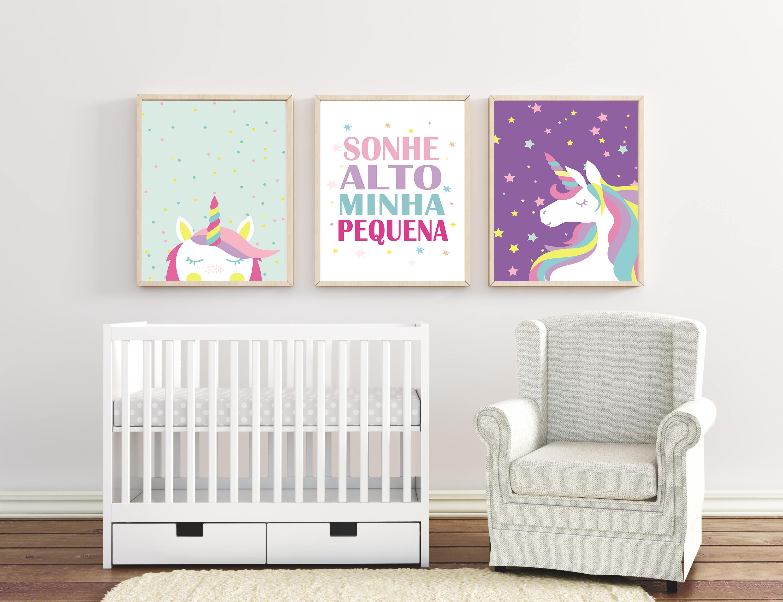 cbf2137af 3 quadros decorativos - quarto de bebê no Elo7