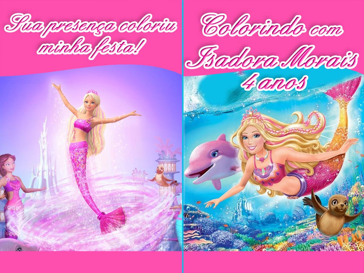 Lembrancinha Barbie Em Vida De Sereia Caneca Elo7