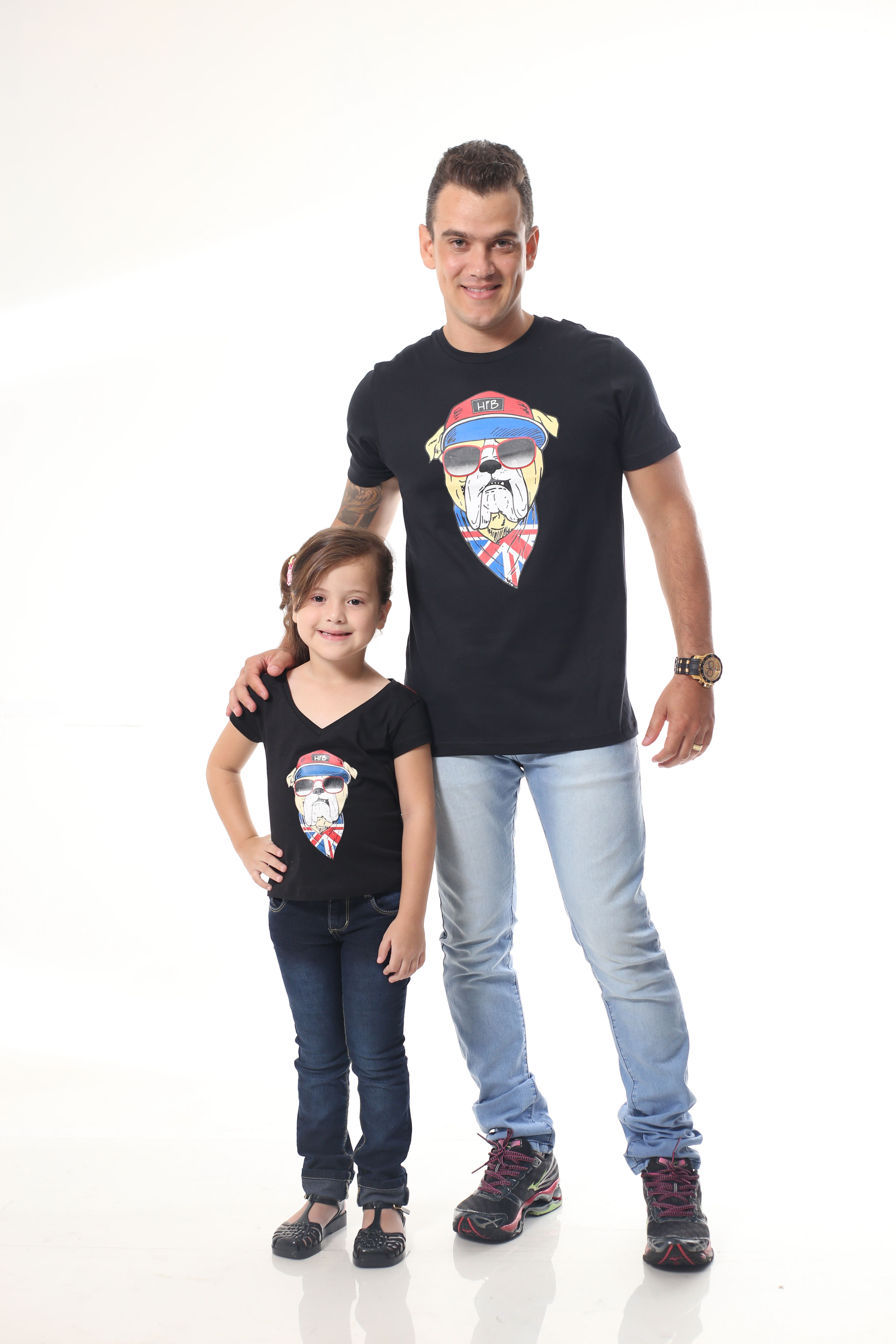 Pai e Filho Kit 02 Camisetas Cinzas  91f4f6fec93