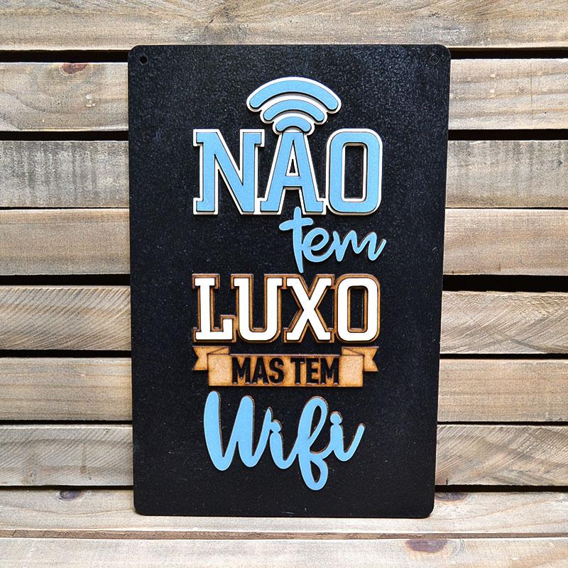 Placa Alto Relevo Frases Tem Wifi Casa Decoração Bar