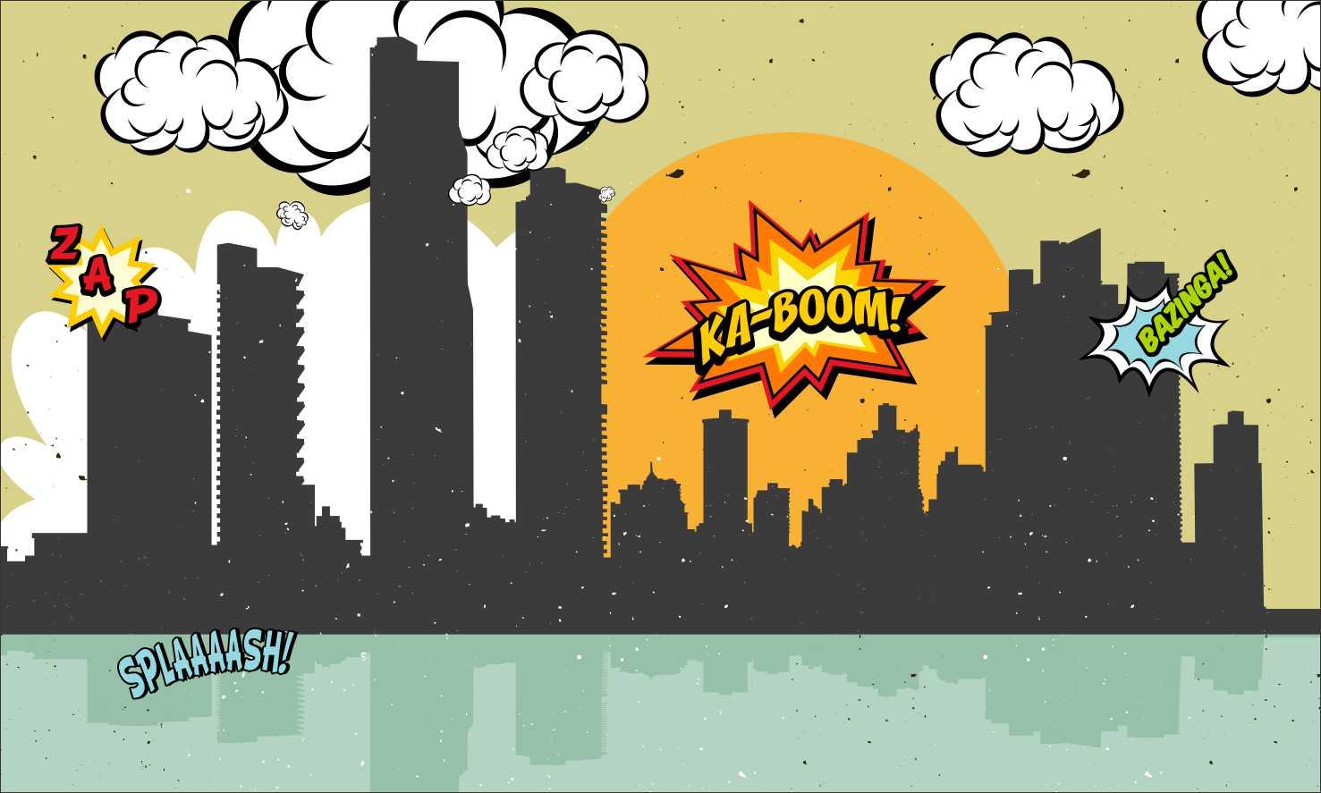 Painel 2x1 Cidade Dos Herois No Elo7 Festa Expressa B6fc46