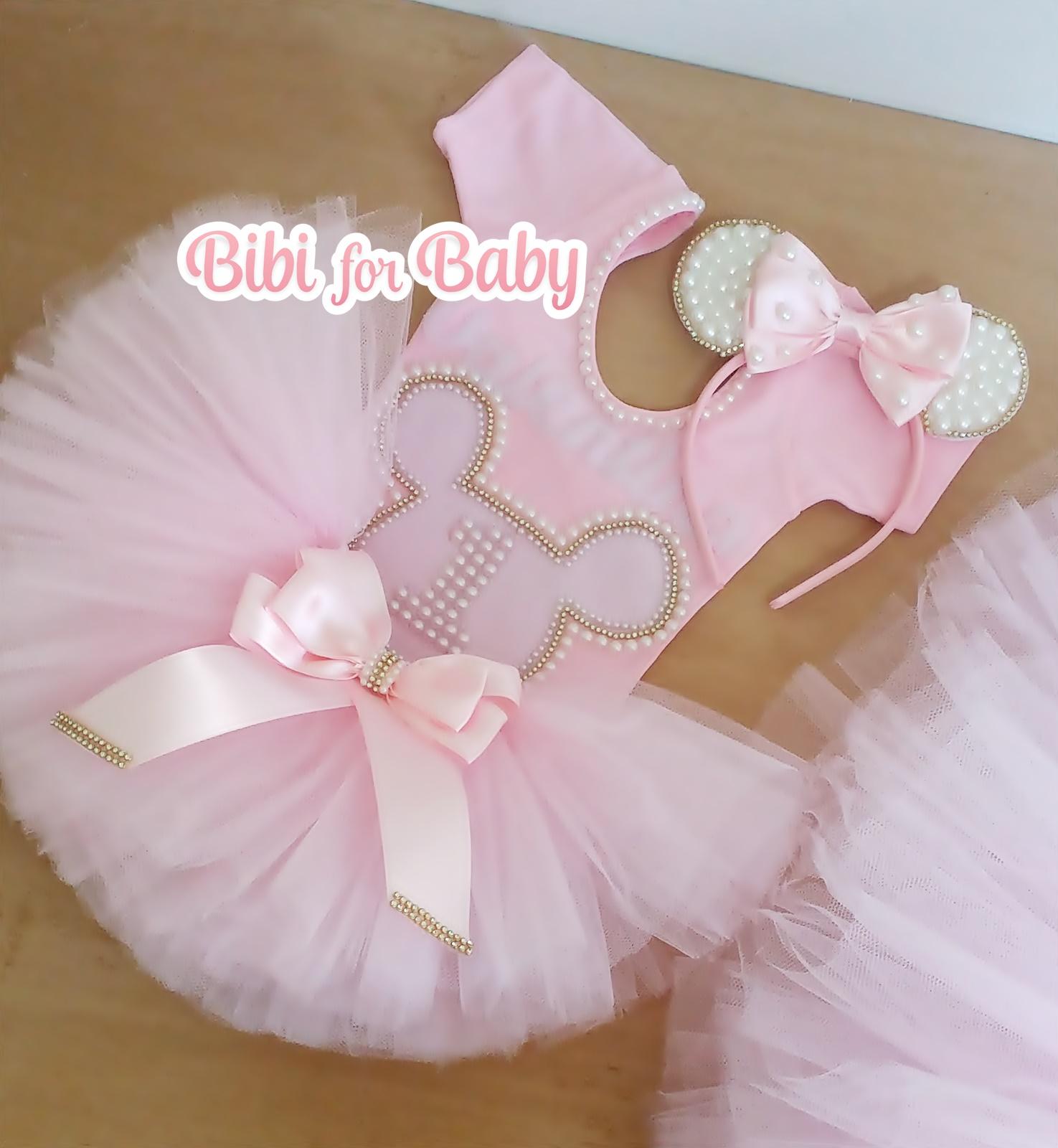 15abfd5c42 Fantasia Minnie Rosa luxo Tal mãe tal filha no Elo7