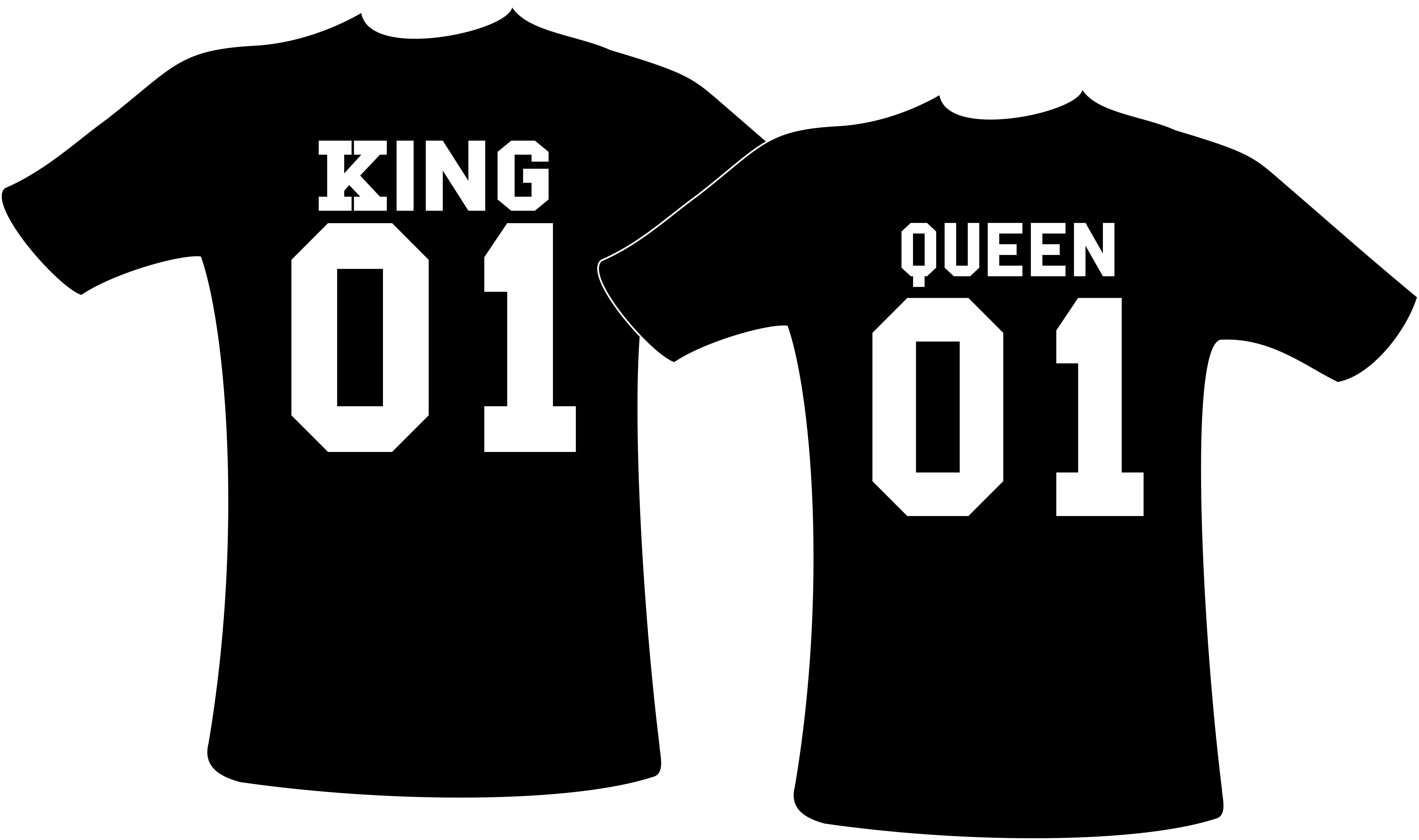 San Francisco calidad superior mitad de descuento Camisetas Casal King Queen Rei Rainha Personalizada