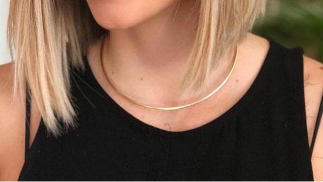 05c7b0ace2812 Colar Gargantilha Choker Feminina Dourada de Metal