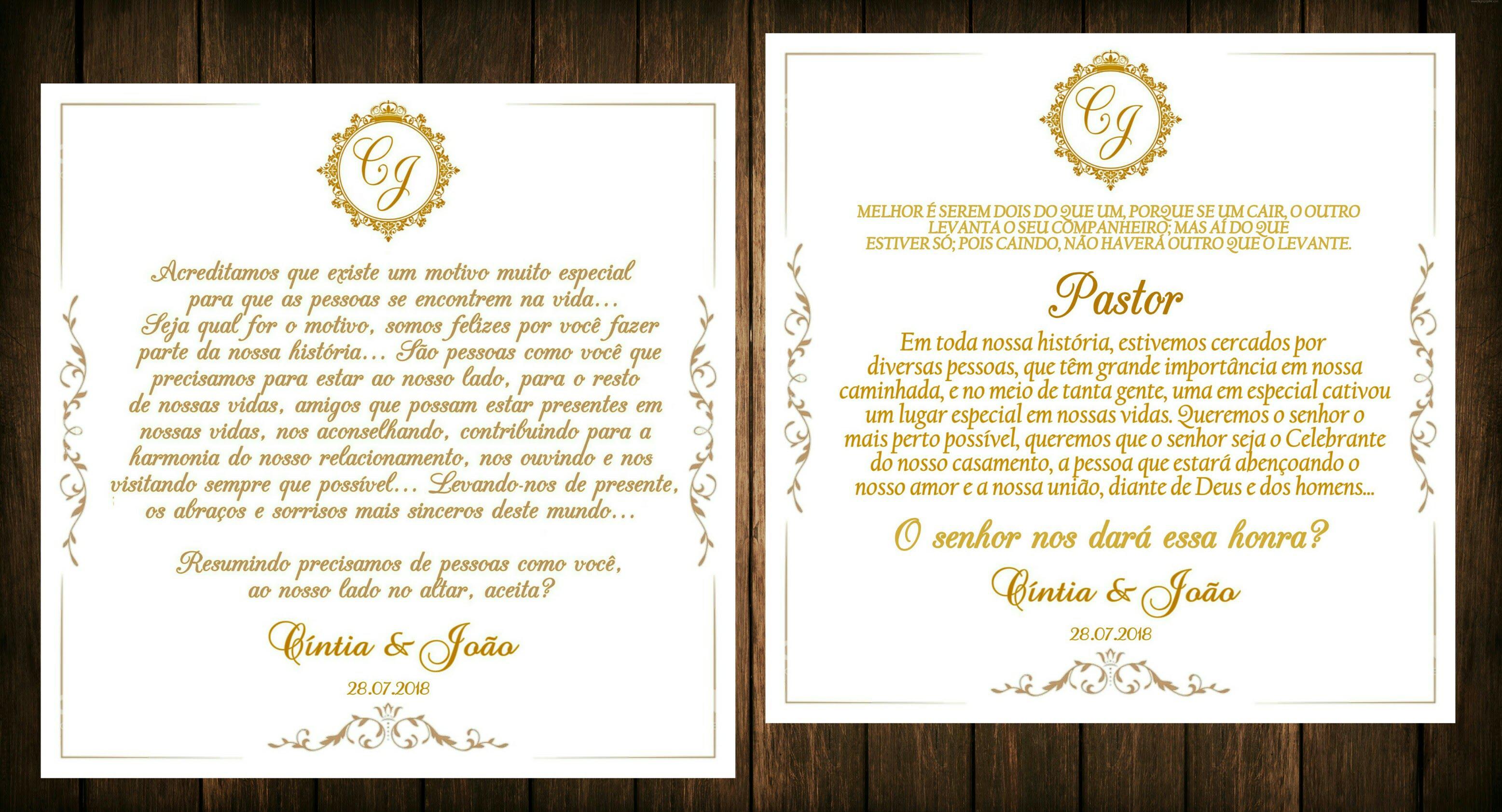 Convite Para Pastora Elo7