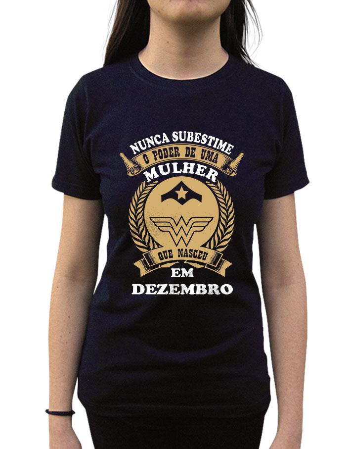 Camiseta Nunca Subestime Uma Mulher Elo7