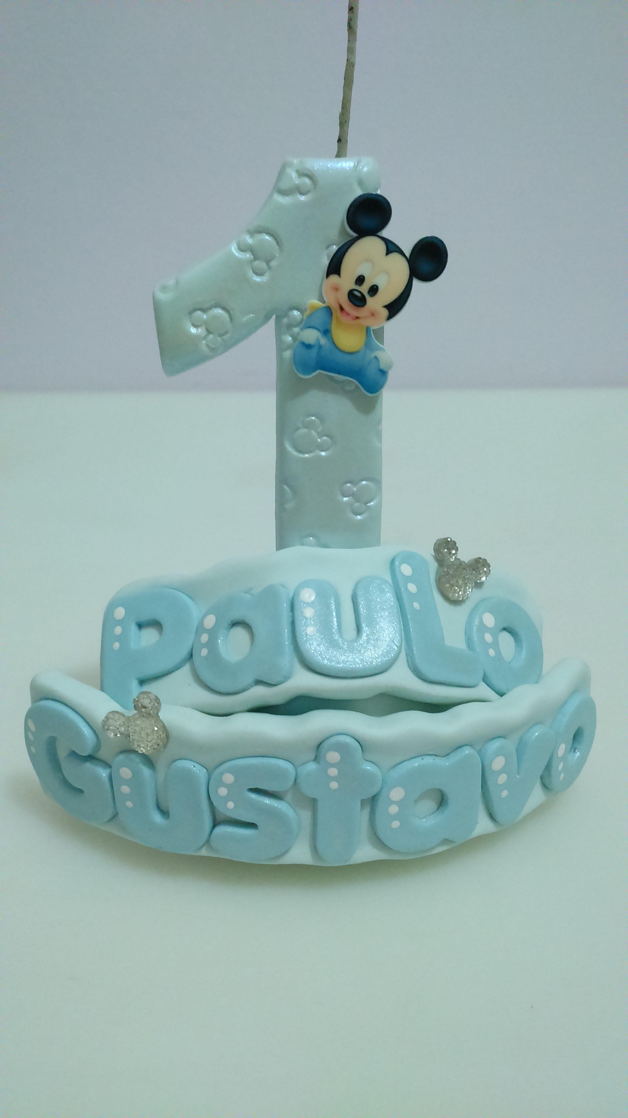 Vela Personalizada Baby Disney Mickey No Elo7 Art Di Cris