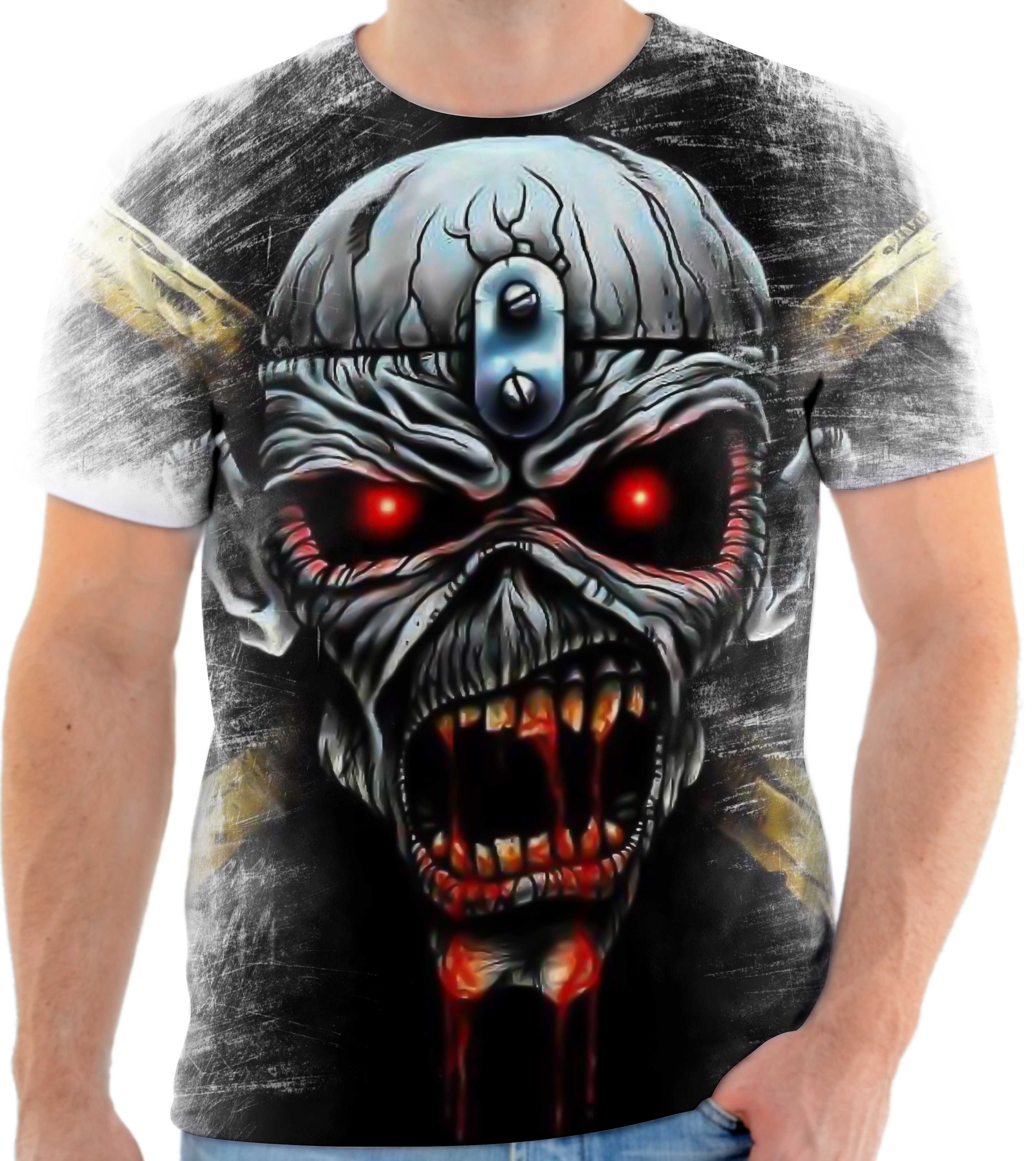 fe38860d8 Camisa Camiseta Personalizada Iron Maiden Banda Metal 6