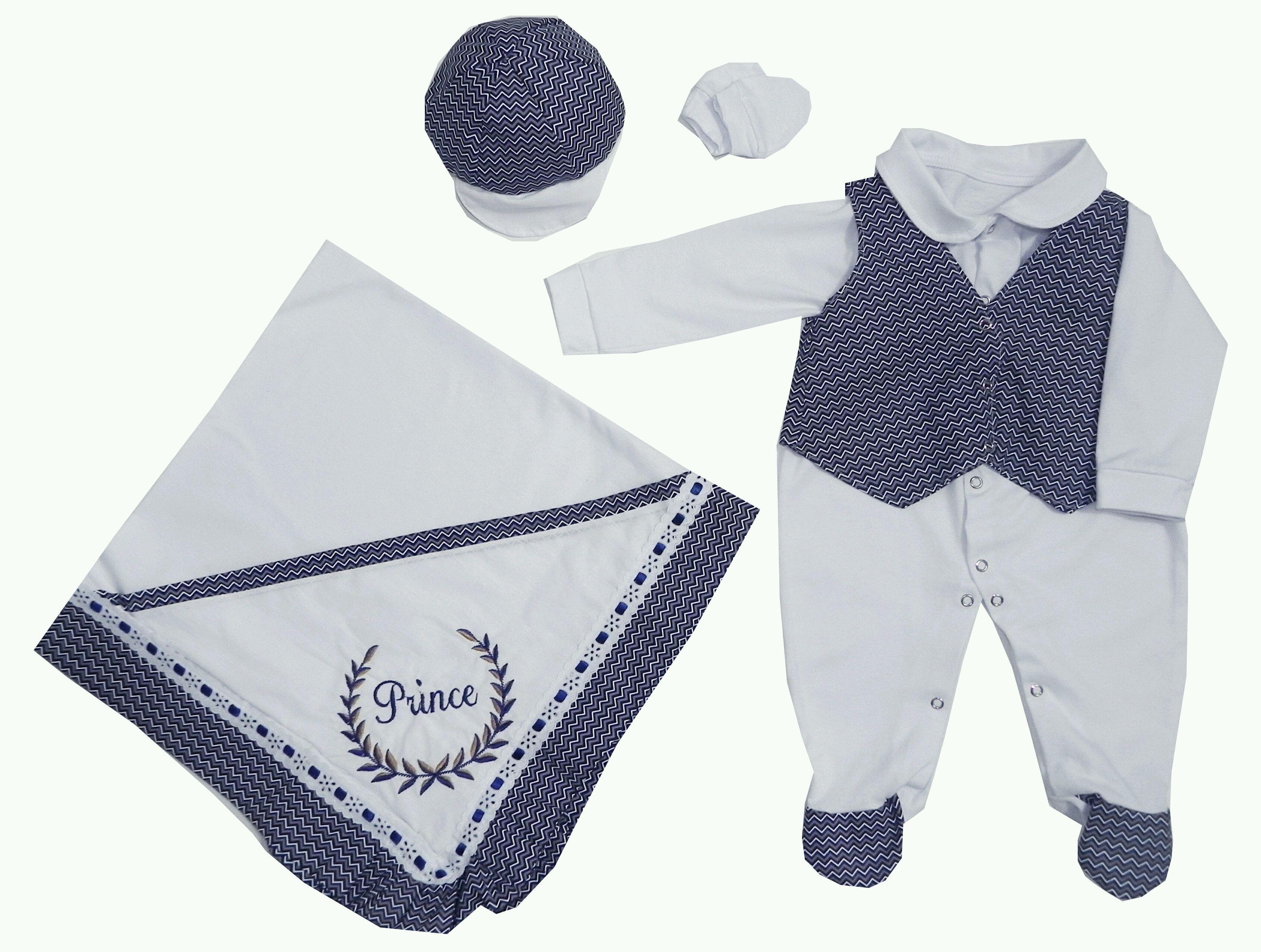 Saída Maternidade Azul Príncipe  1846cf8596b