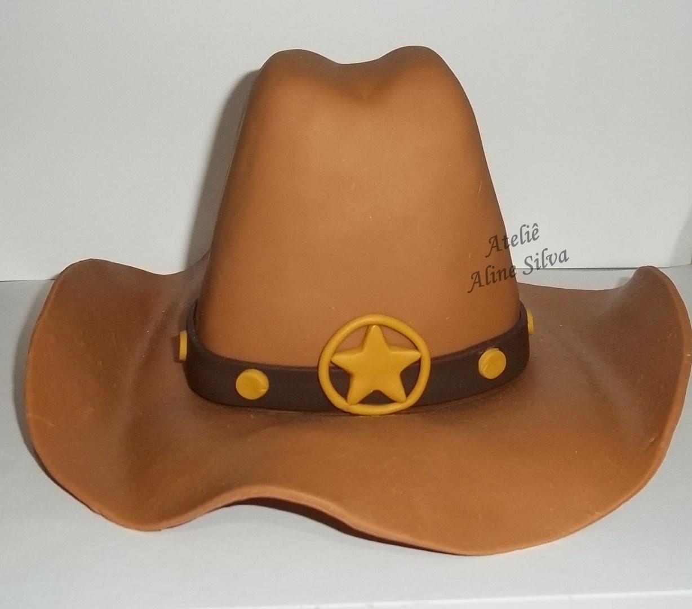 Topo de Bolo Bota e Chapeu de Cowboy  f85fd1c57b5