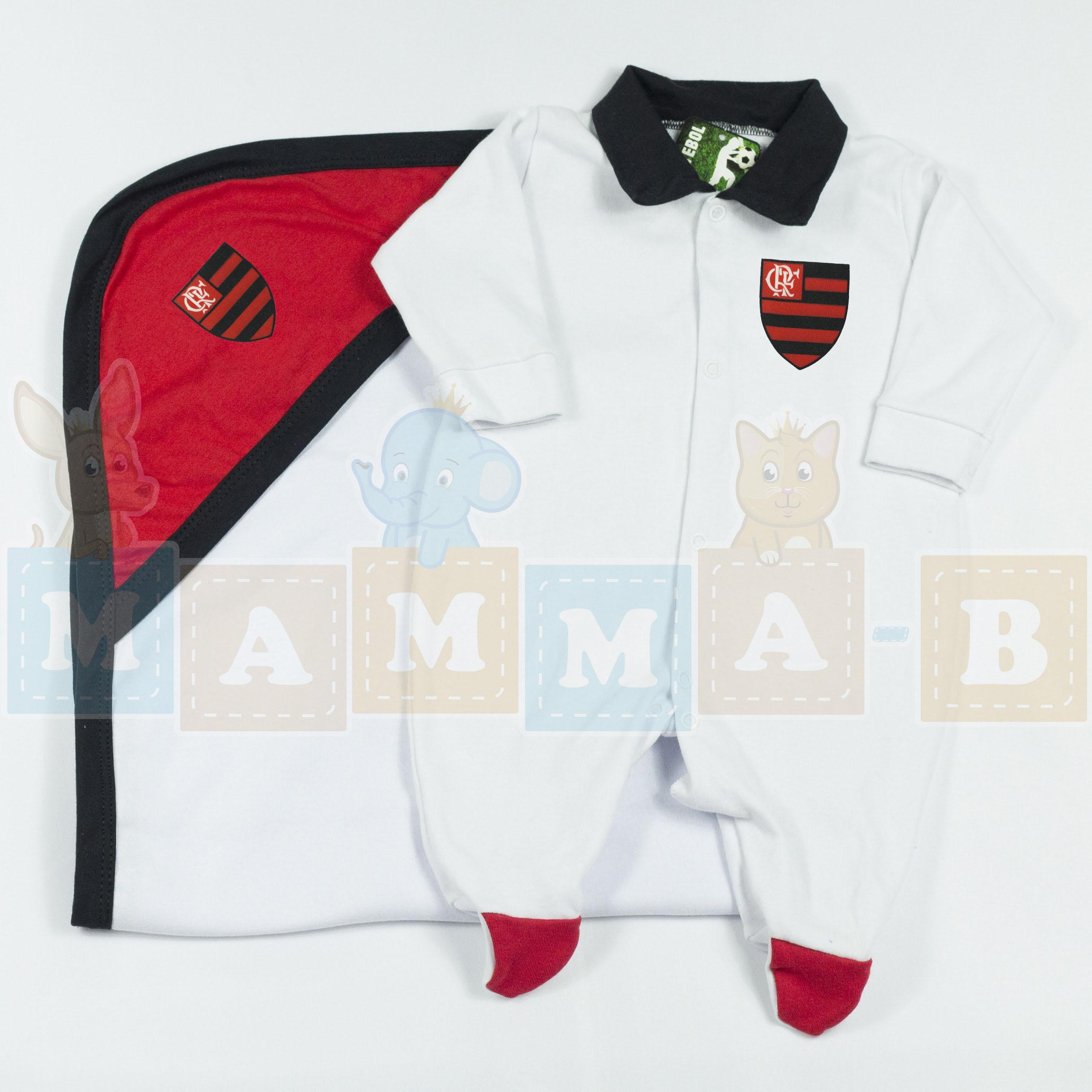 ca001ba75df77 Saída Maternidade Flamengo Recém Nascido no Elo7