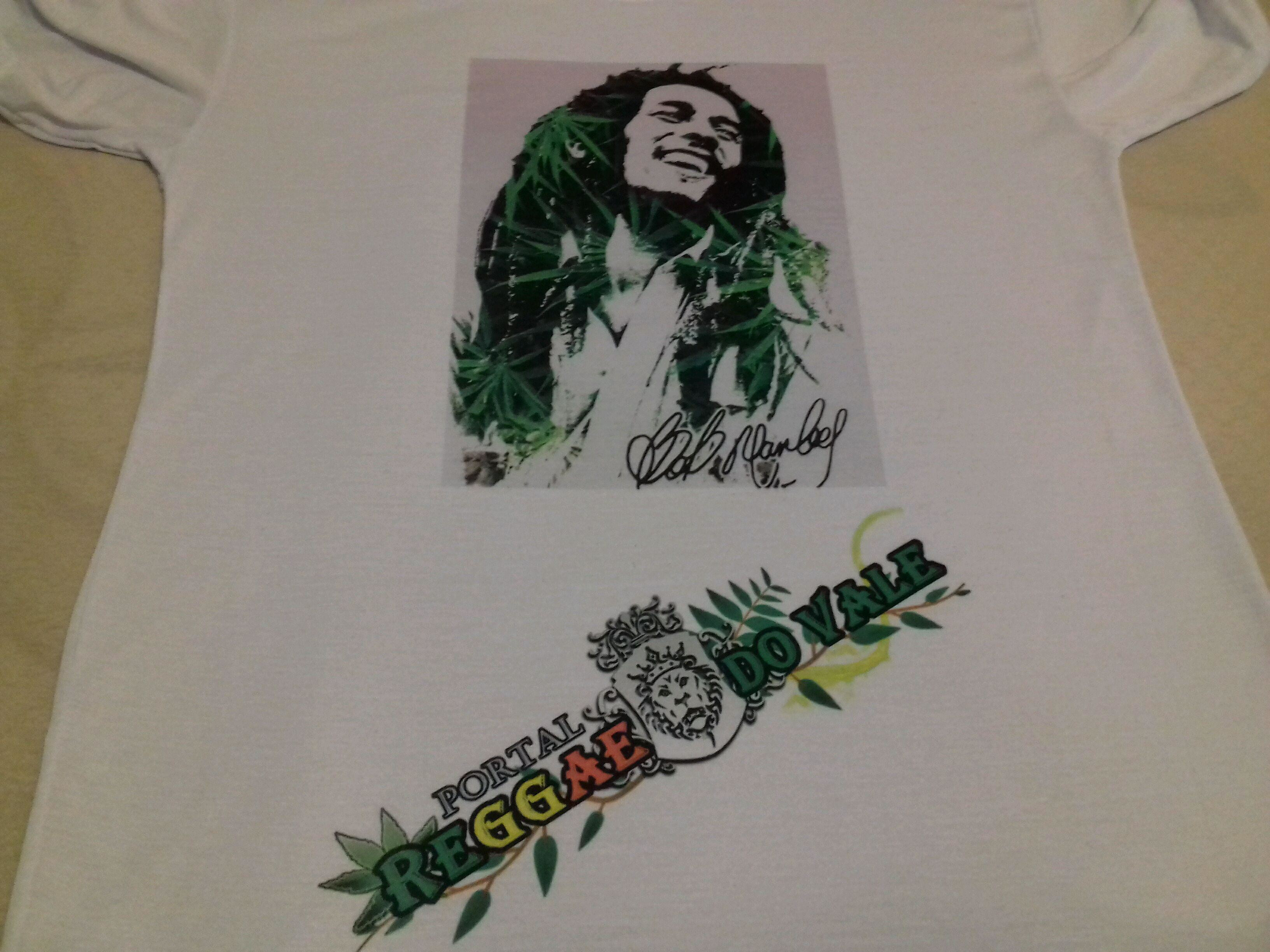 4f72c6907c Camiseta Canoa Bob Marley   Elo7