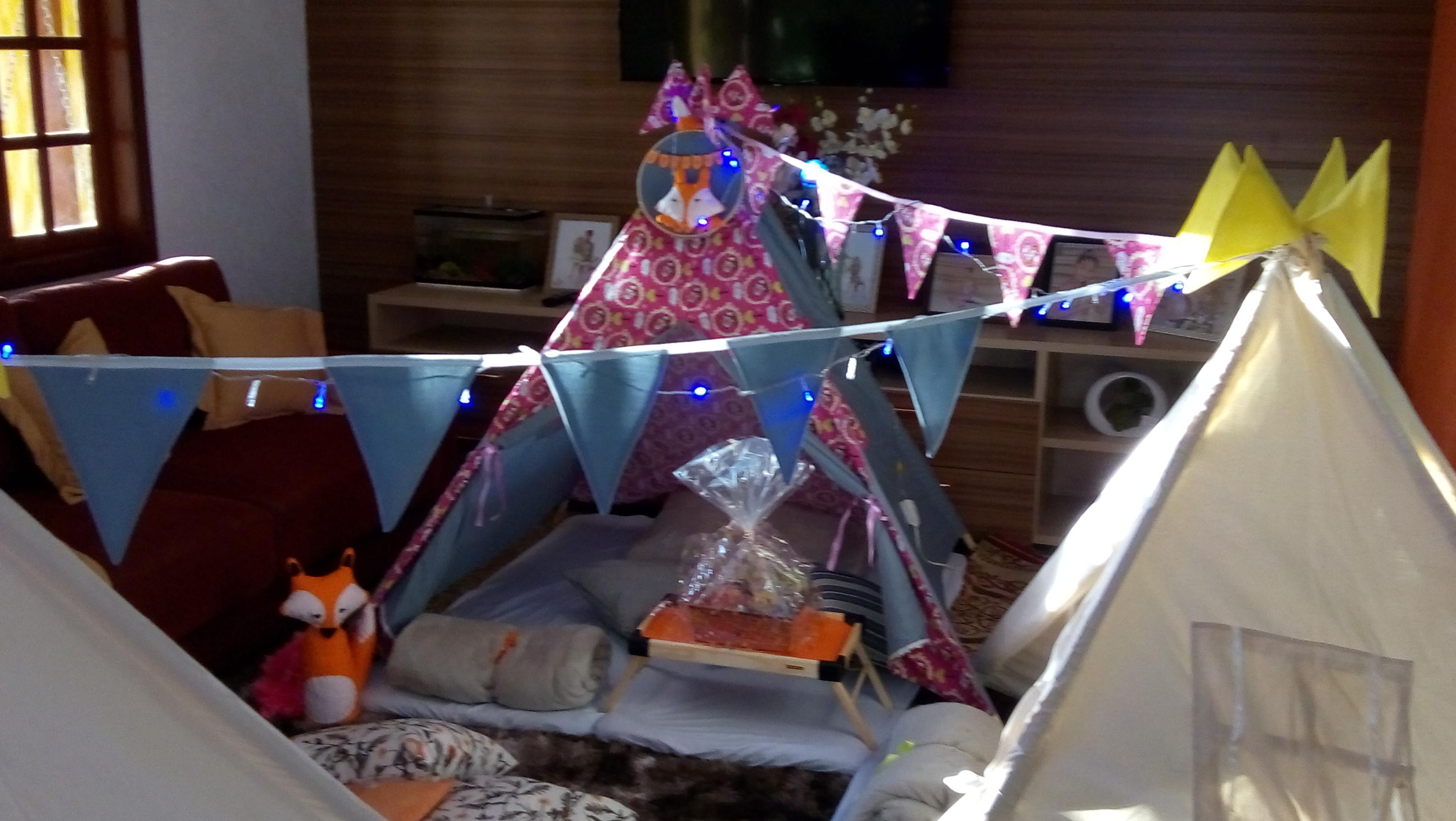 a0f5f446e Cabana Festa Do Pijama Locação Tema Raposa no Elo7