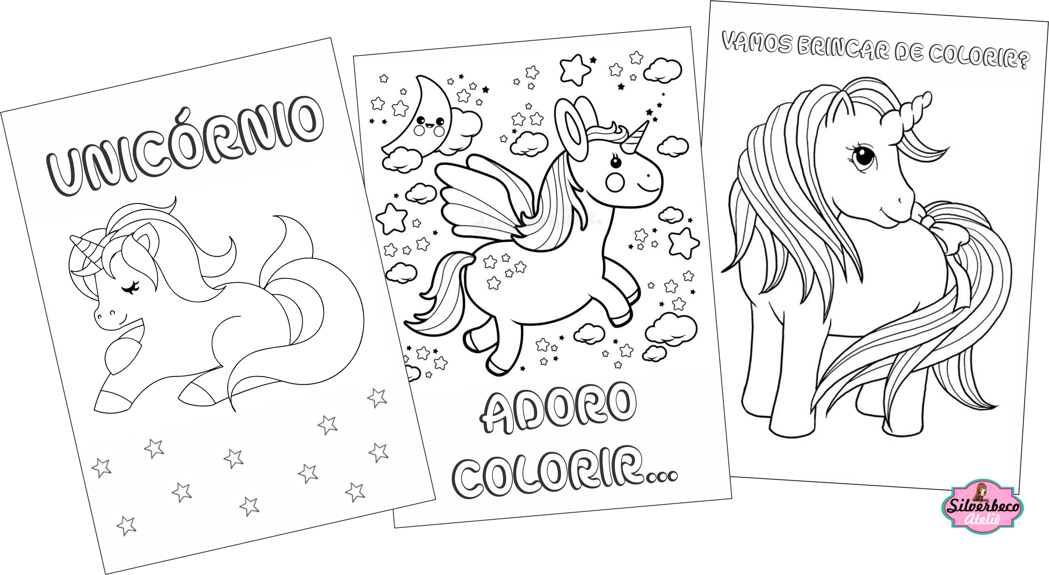 Revistinha Para Colorir Unicornio No Elo7 Mimados B9b61a