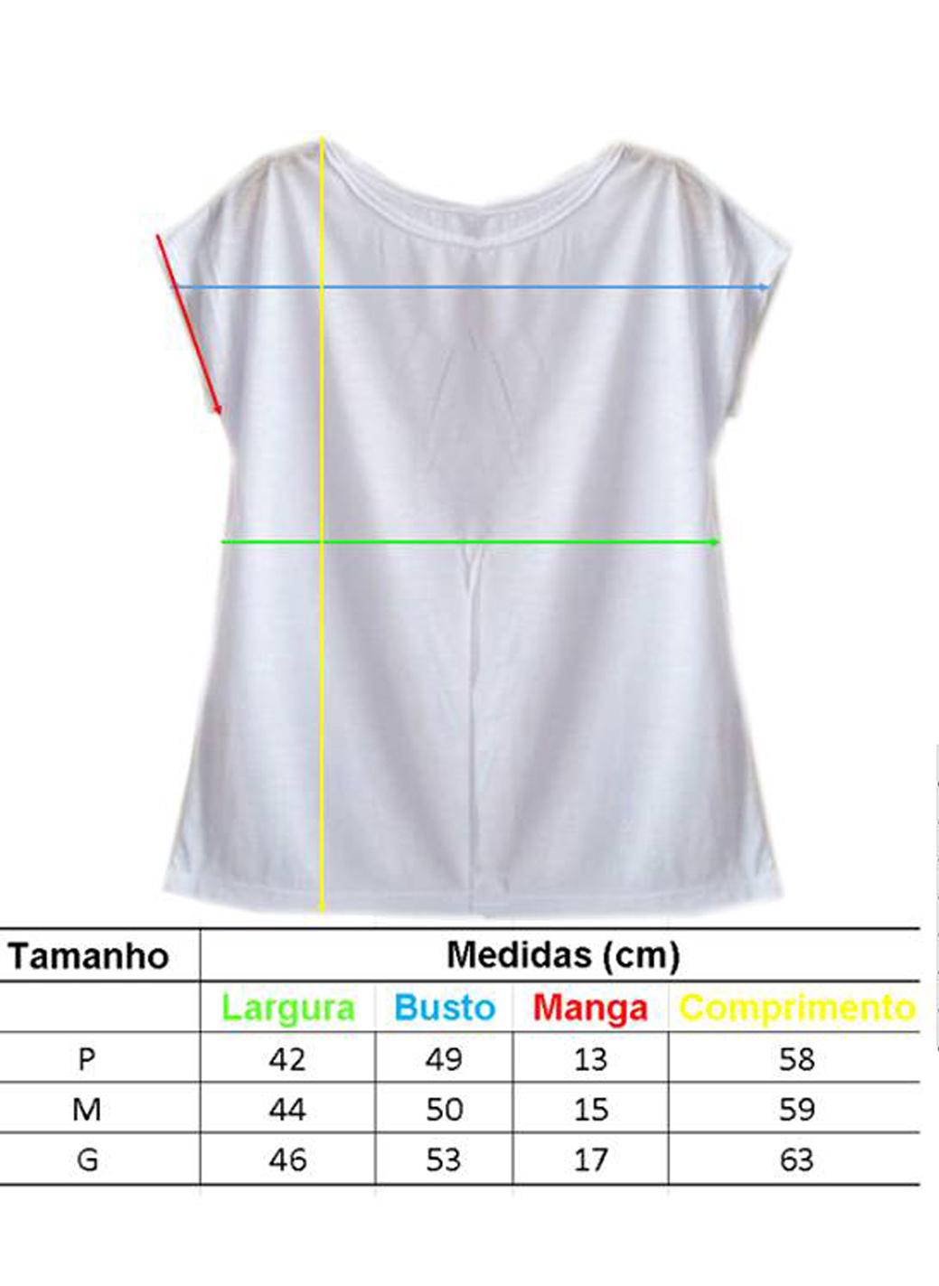 b614de5243 Camiseta Feminina Blusa T shirt Gato Unicórnio Colorido no Elo7 ...