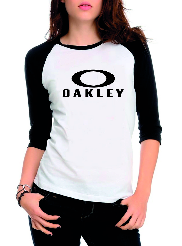 Camiseta Raglan 3 4 Oakley no Elo7  7c29d8c6ae4