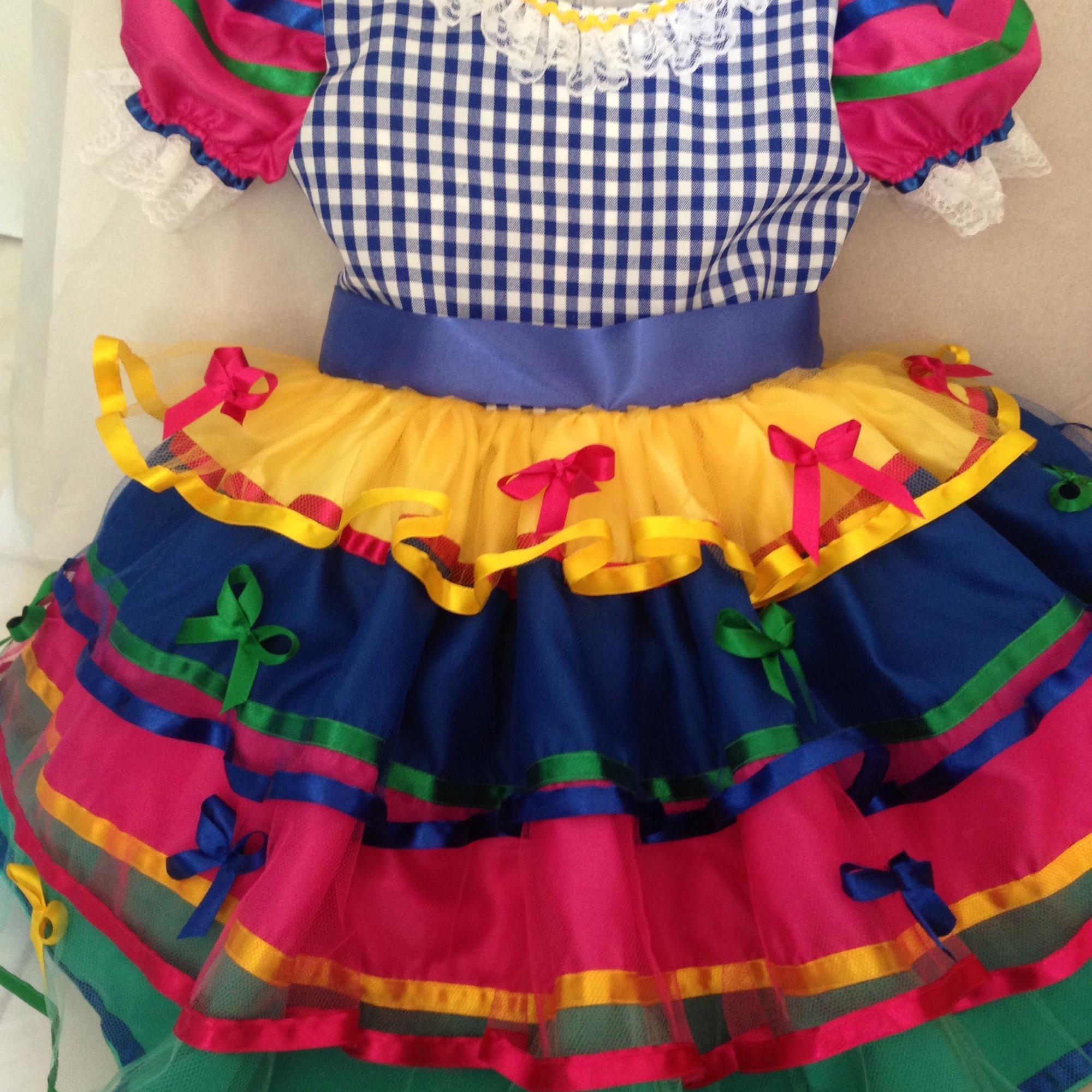 Vestido Festa Junina Luxo