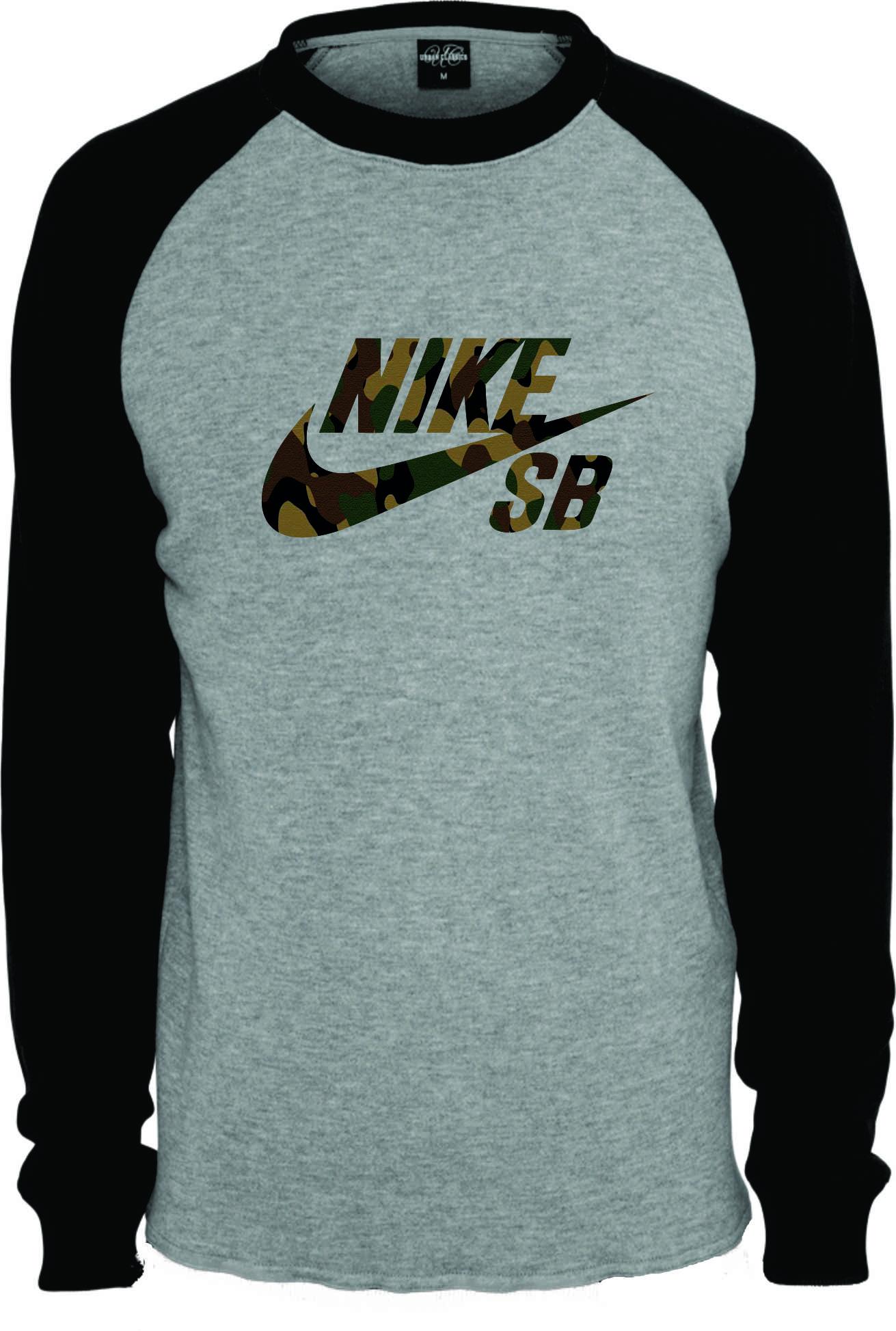 f80e8feff4 Camiseta Raglan Manga Longa Nike no Elo7