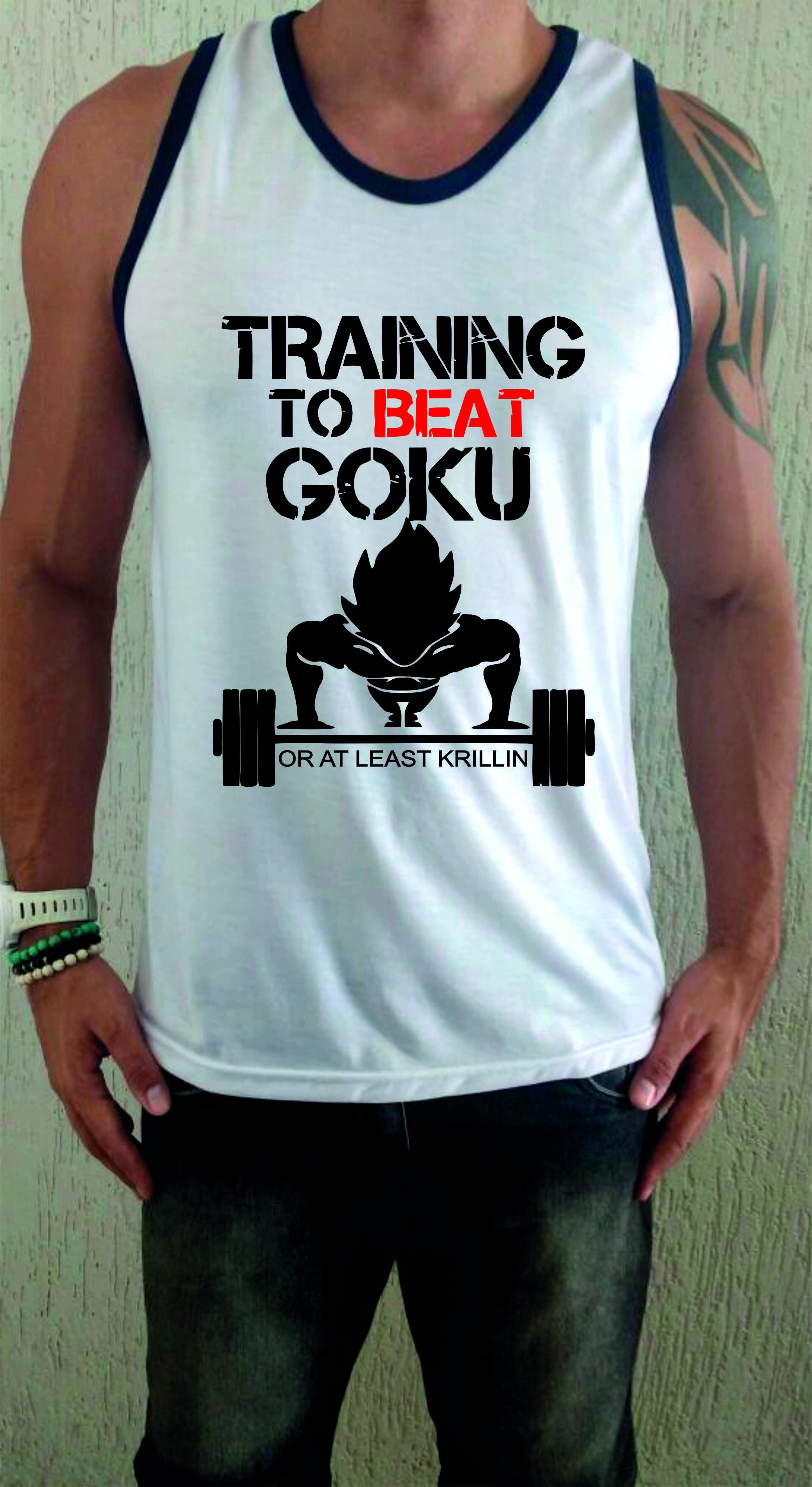 743db84d27a2a Camiseta Regata Academia Treino Goku no Elo7