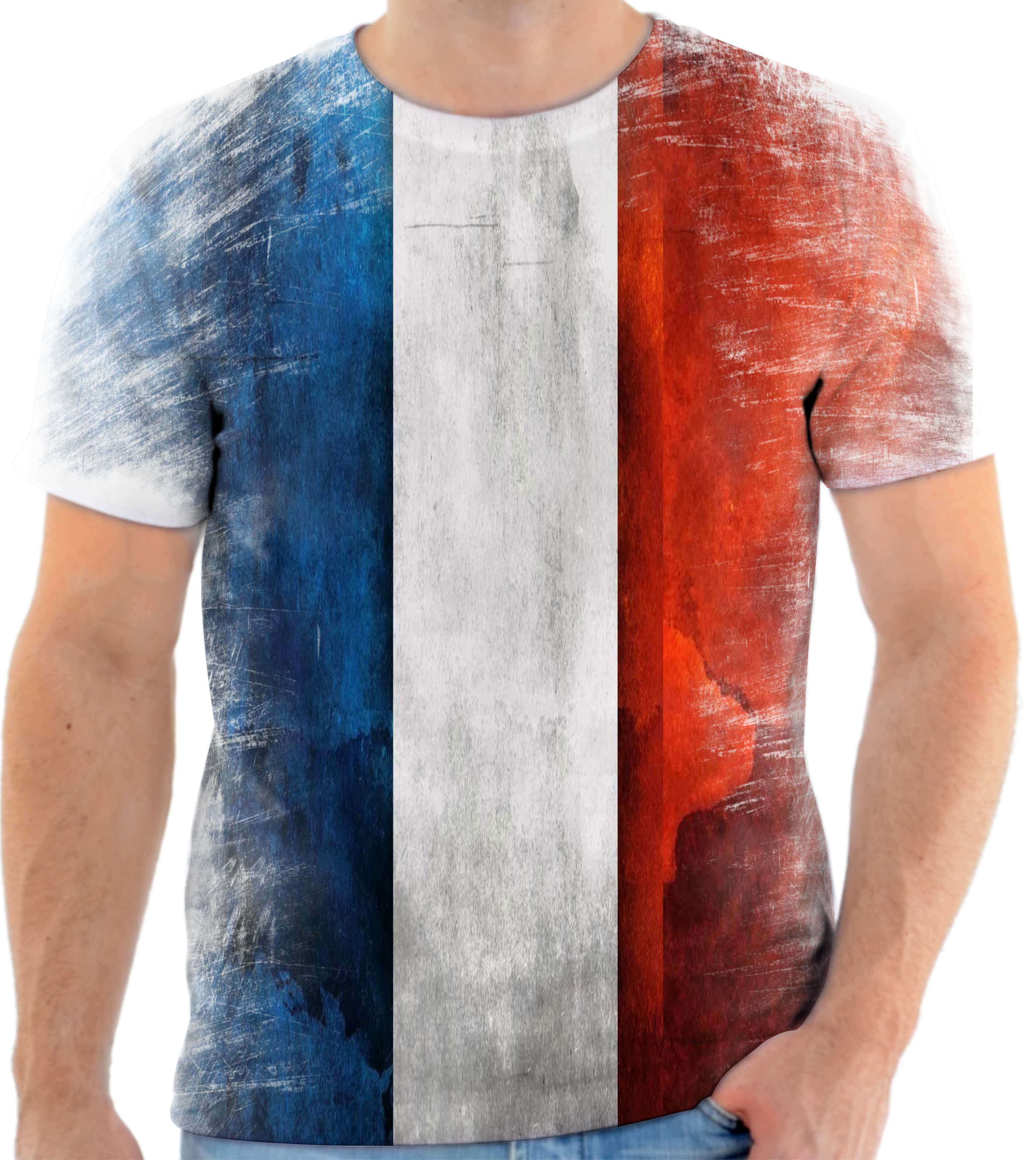 c5f35866ba Camisa Camiseta Personalizada Bandeira Da França 2 no Elo7