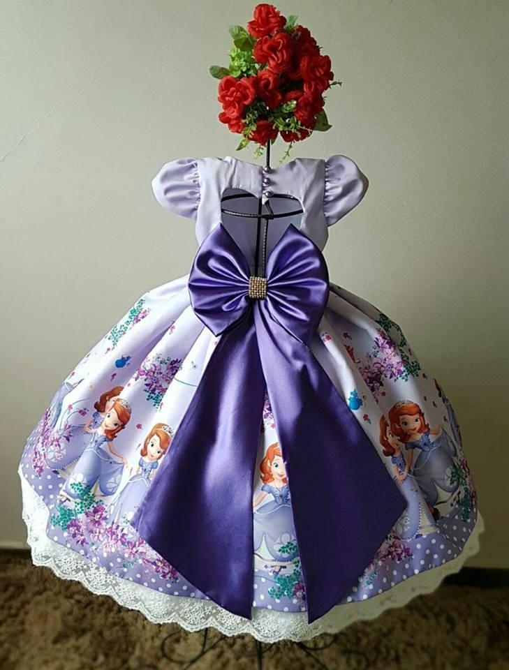 Vestido Super Luxo Princesa Sophia