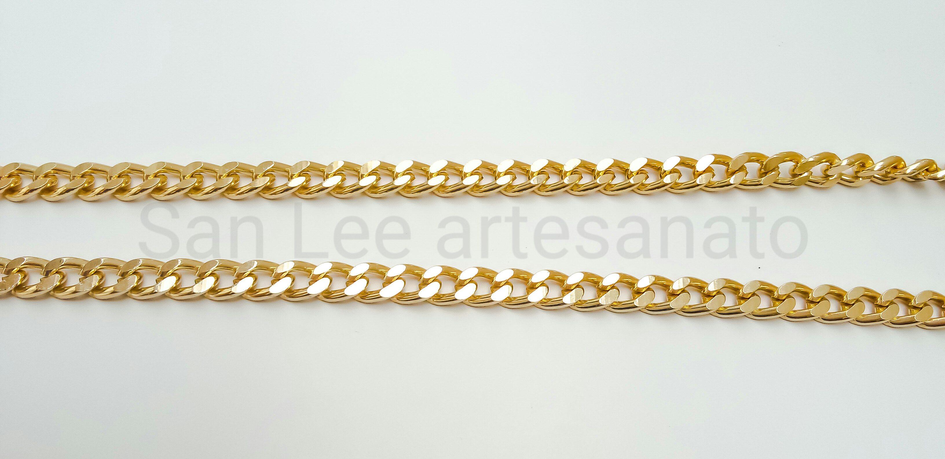 4166849a9021 segura óculos de corrente dourada 5mm no Elo7 | San Lee artesanato (BA2797)
