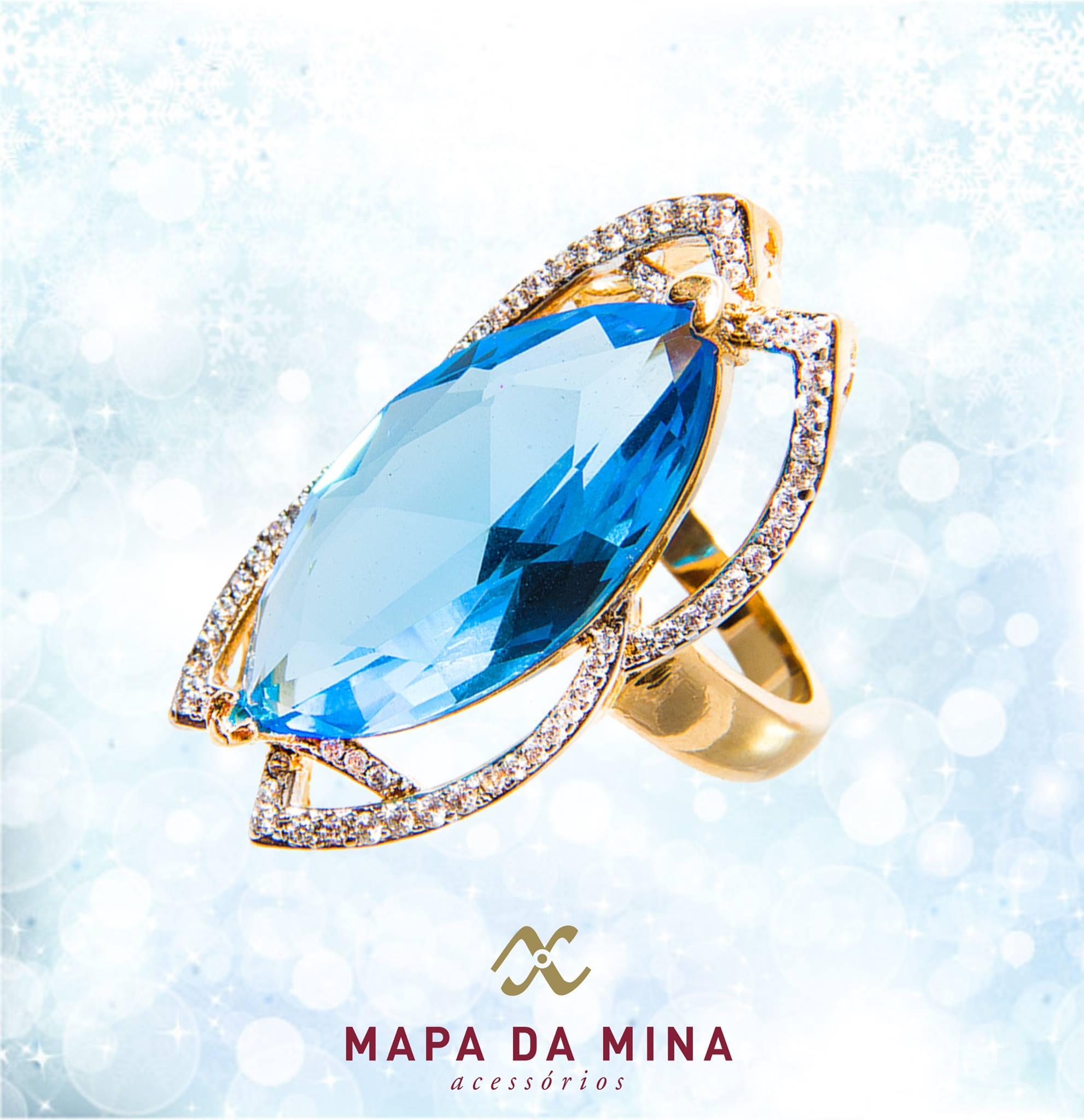 Anel com Pedra Azul   Elo7 69f91d6aad