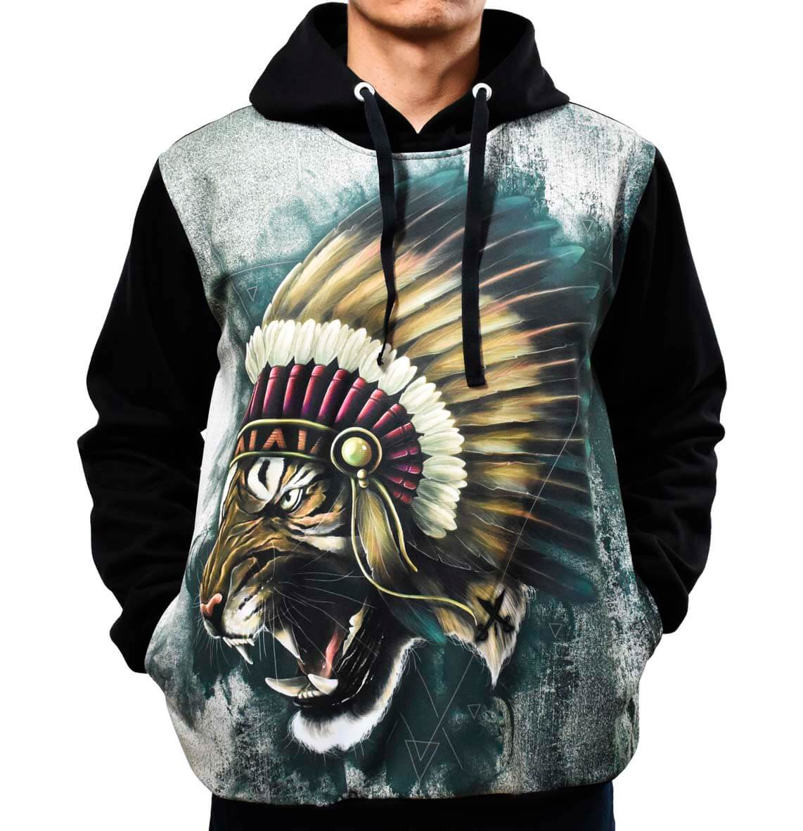 4962fb8679 Blusa de Frio Printfull Moletom Tiger Warlod Indian no Elo7 ...