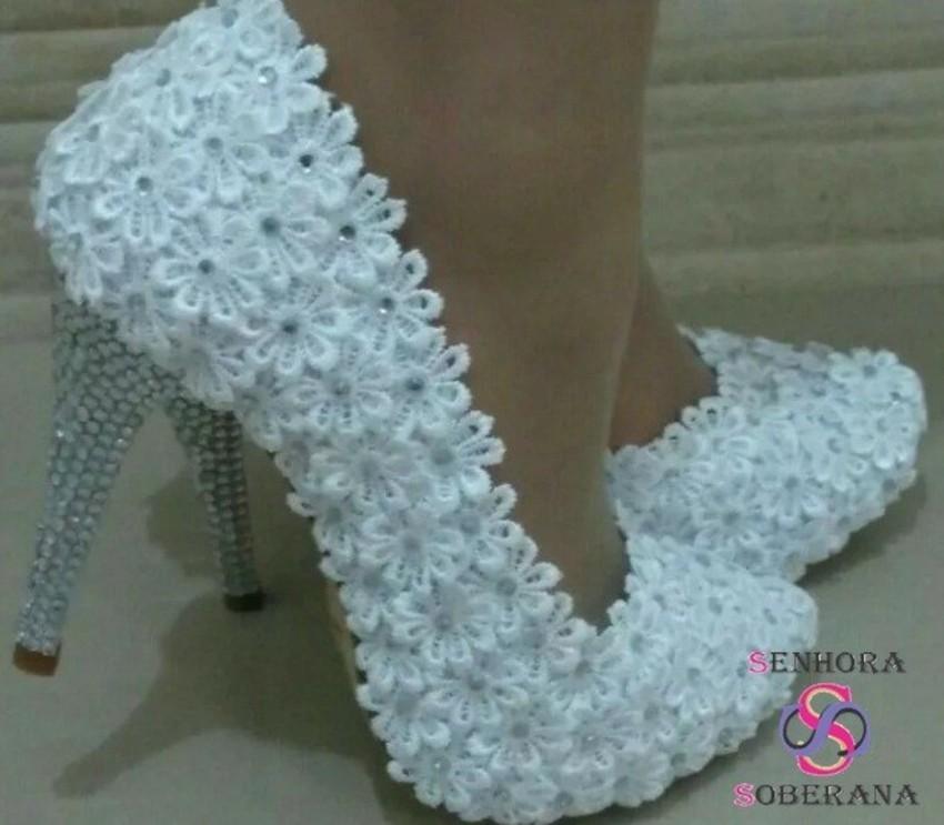 e6540a709c Sapato Meia Pata Tubarao Branco
