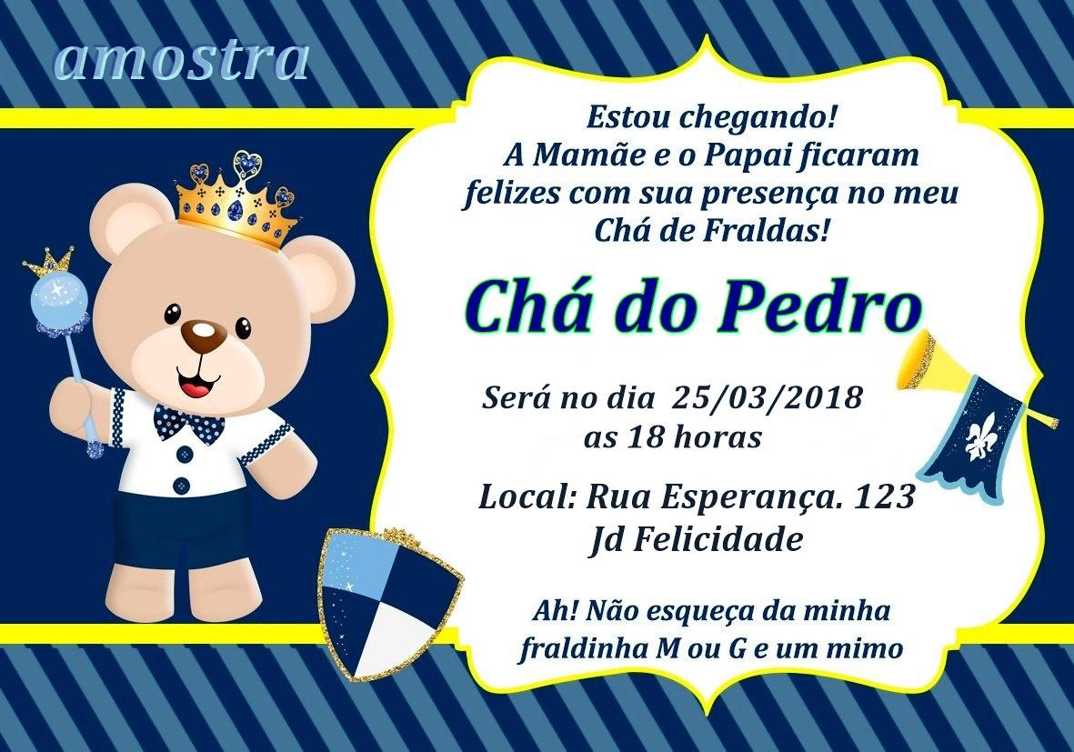 Convite Chá De Bebe Ursinho No Elo7 Juju Arts Baa03f