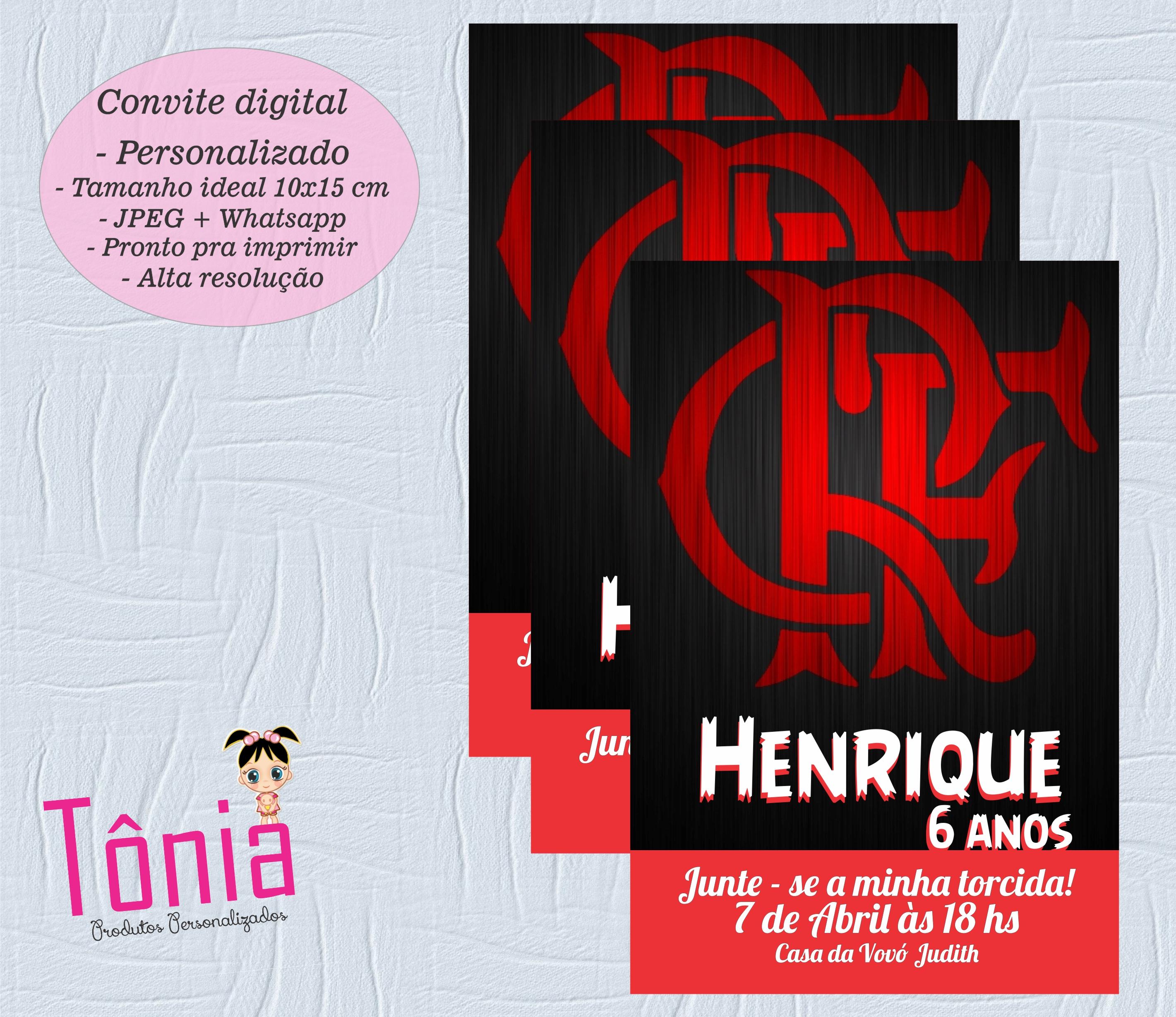Papel Digital Flamengo Elo7