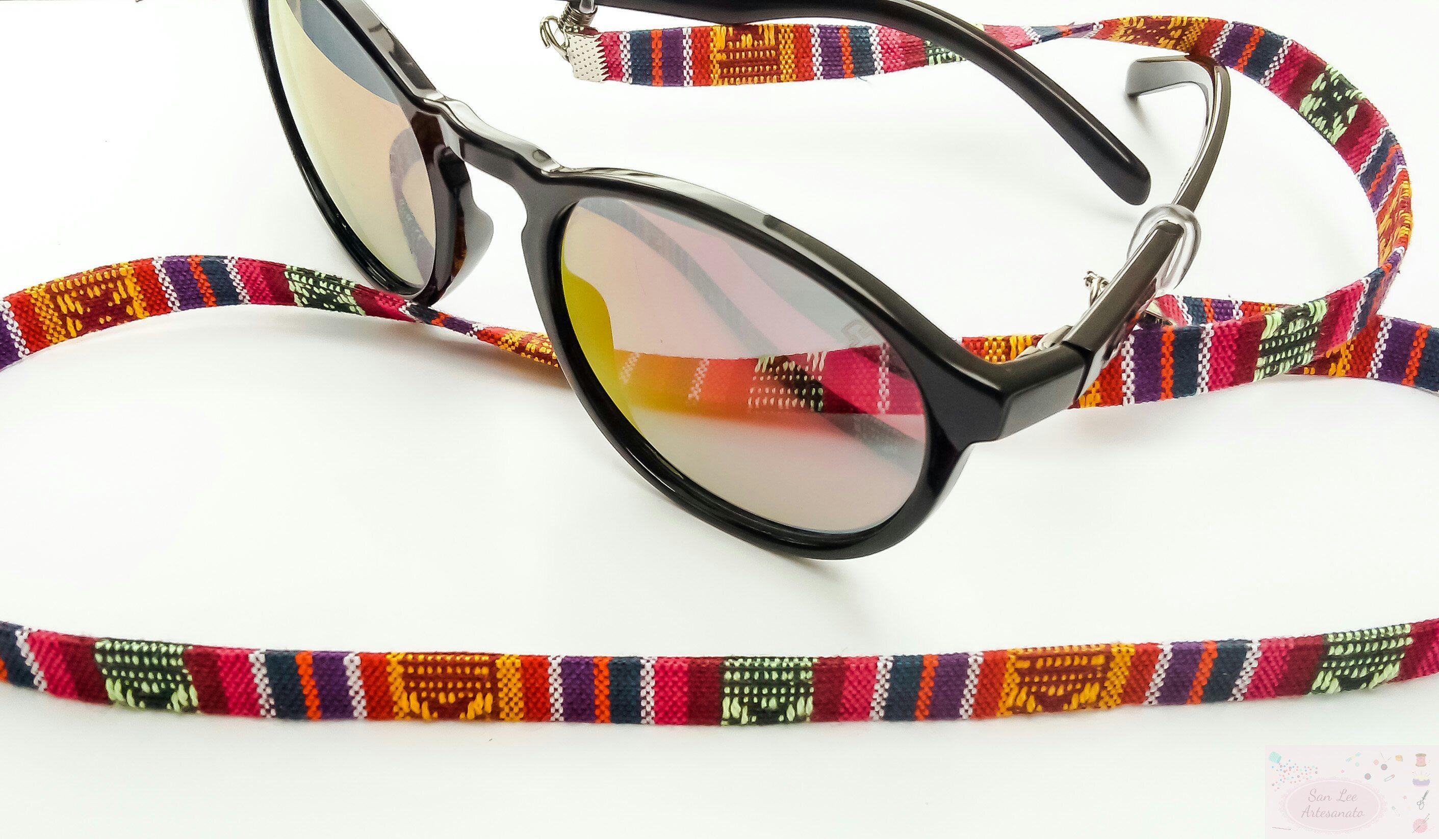 7e0dcaae2 Segura Oculos Etnico Vermelho e Mostarda | Elo7