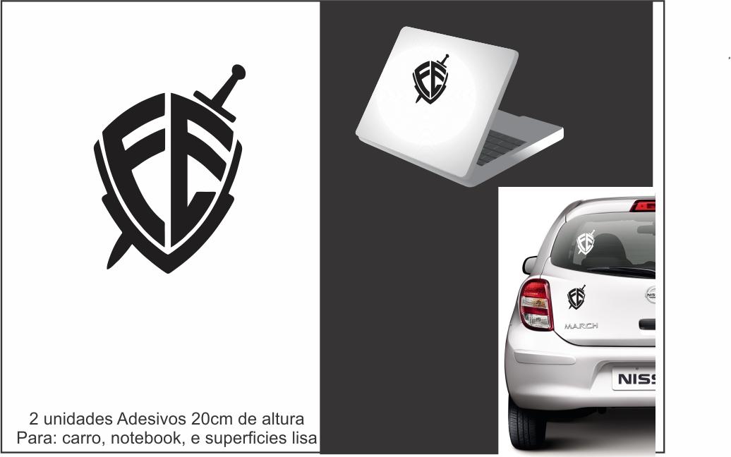Adesivo Decorativo P Carro Escudo da Fe  f96288de88904