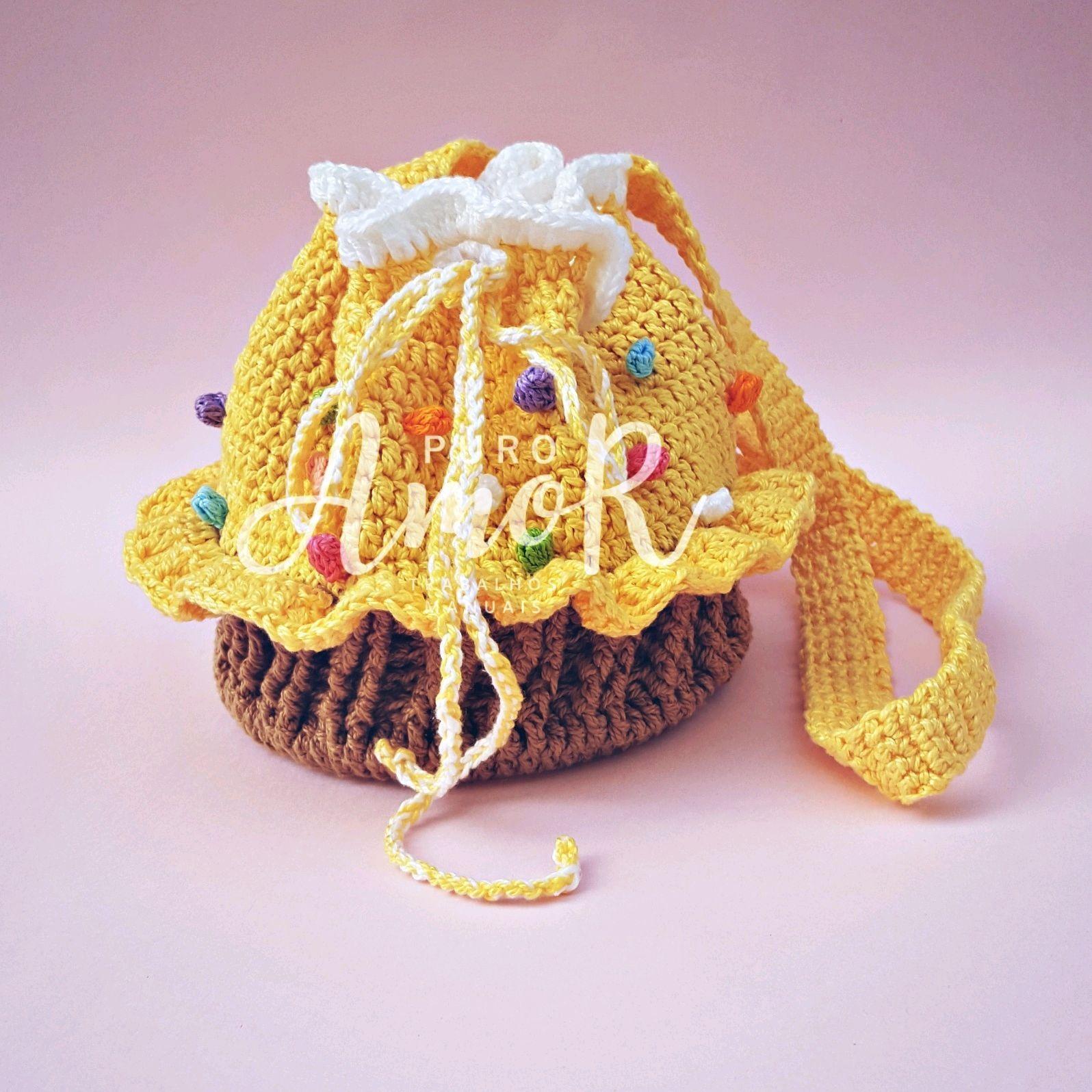 Bolsa Cupcake Infantil Crochê no Elo7  236b157142c