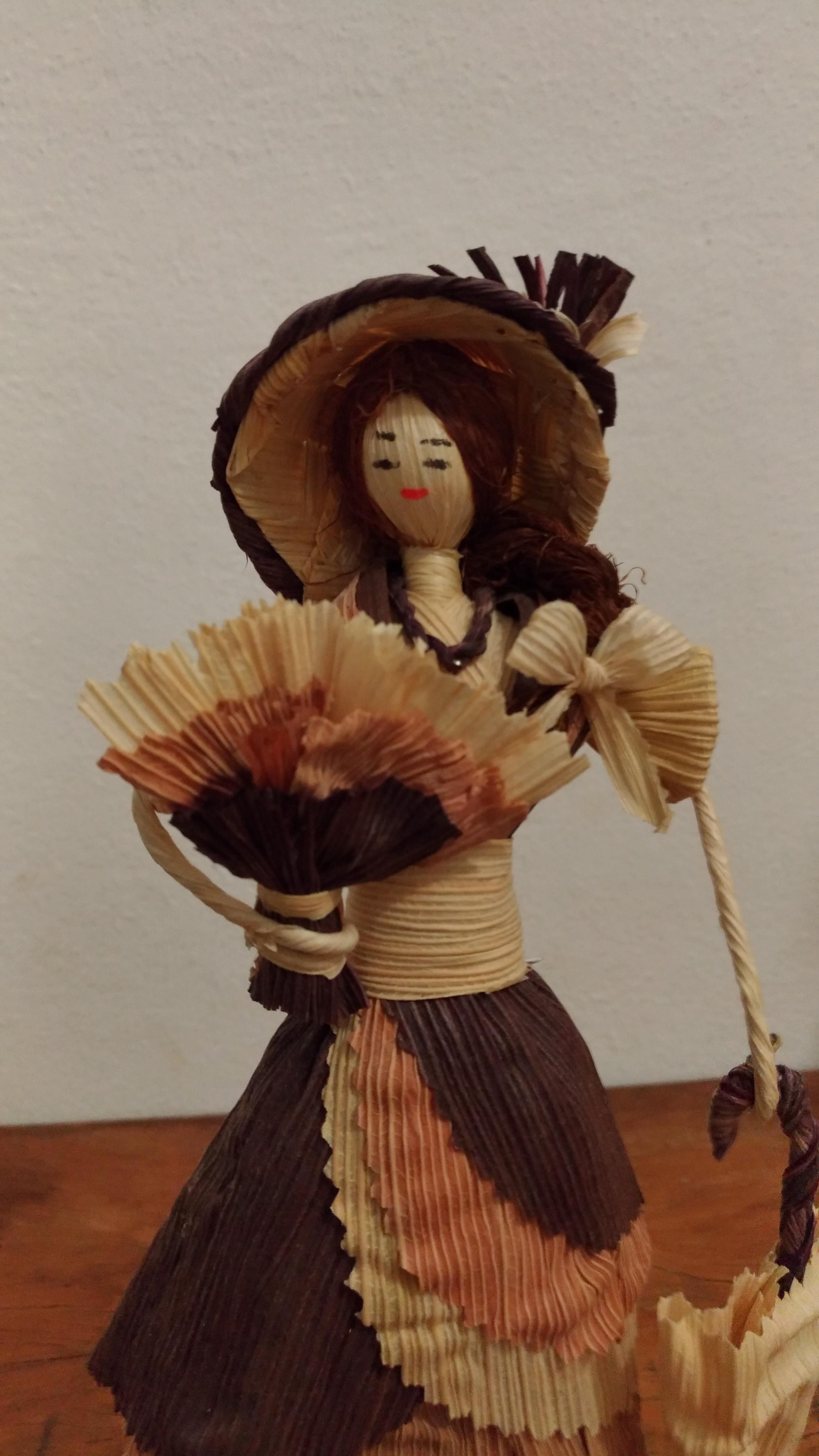 Boneca de Palha de Chapéu e Sombrinha no Elo7  cd70619fb1b