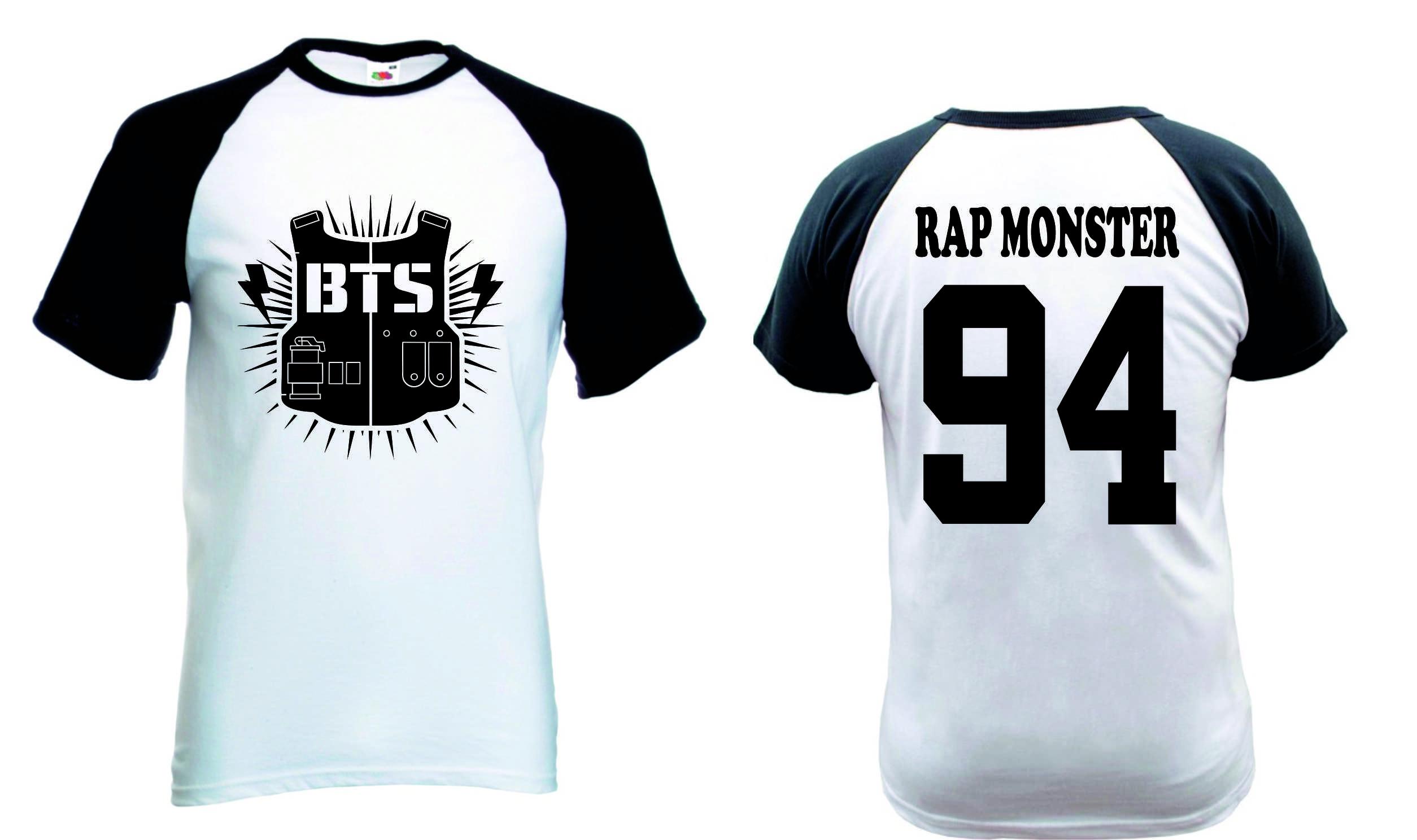 3a1aa0c20e Camiseta Raglan Manga Curta Bts
