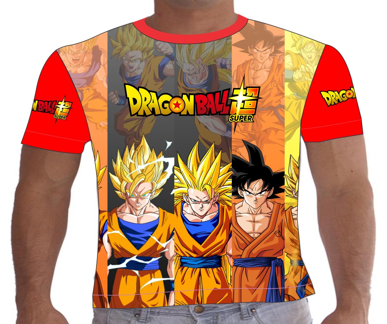 54e71562a Camiseta Infantil Dragon Ball Z Goku no Elo7