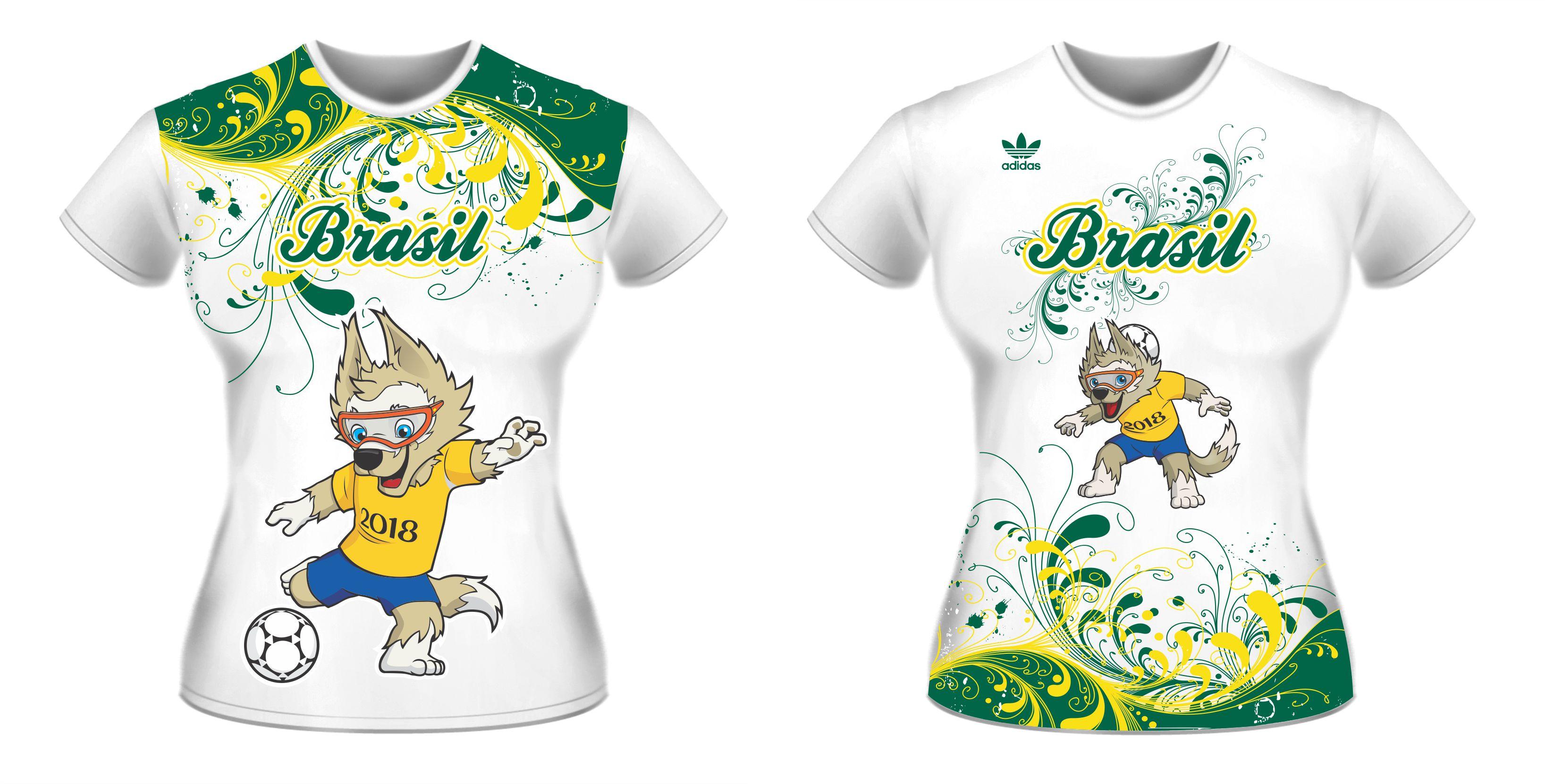 Vetores Estampas Copa Mundo 2018 Russia Neymar Artes Camisa no Elo7 ... bcbaf7d55baee