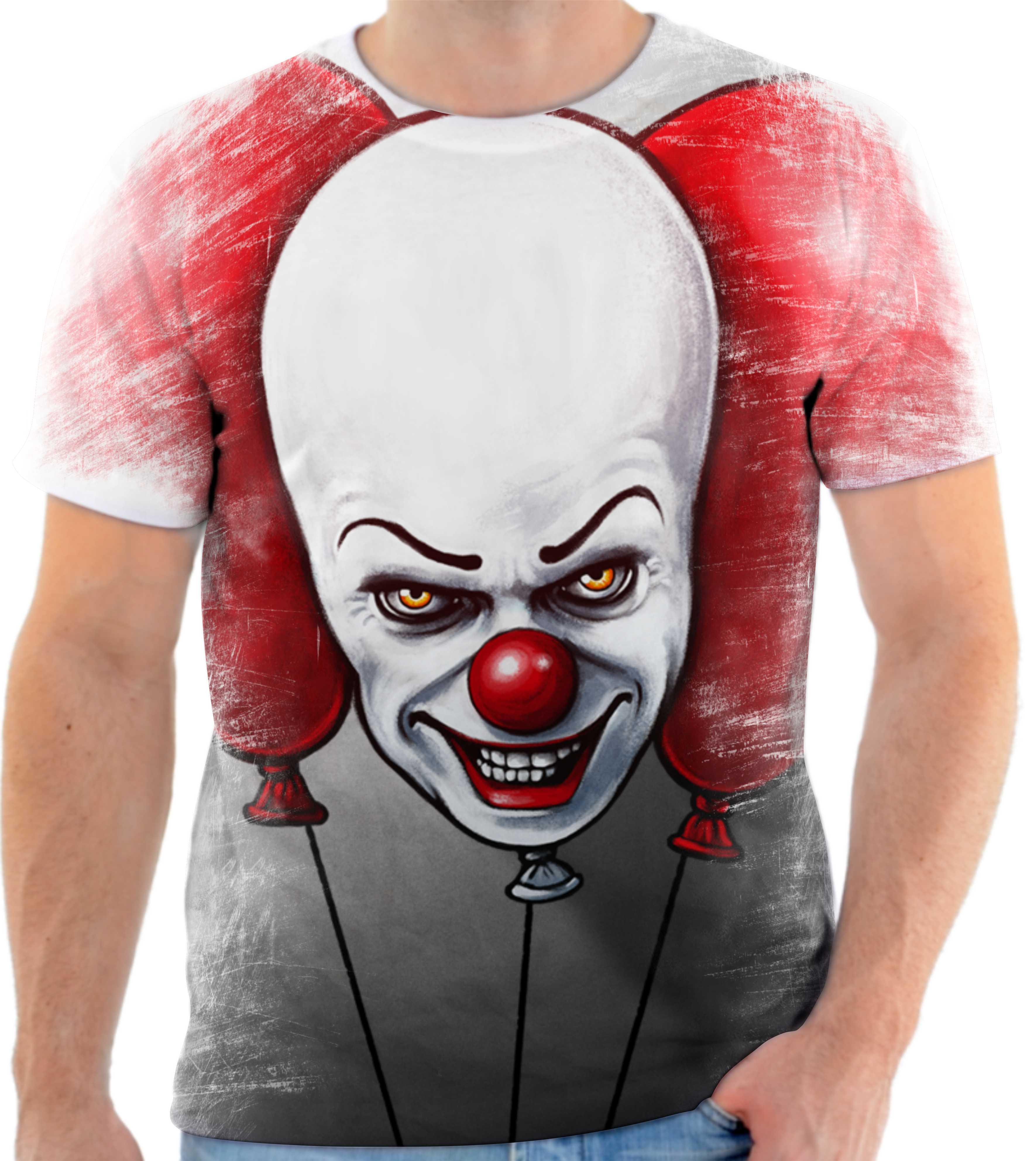 Camisa Camiseta Personalizada Filme It A Coisa Palhaco No Elo7
